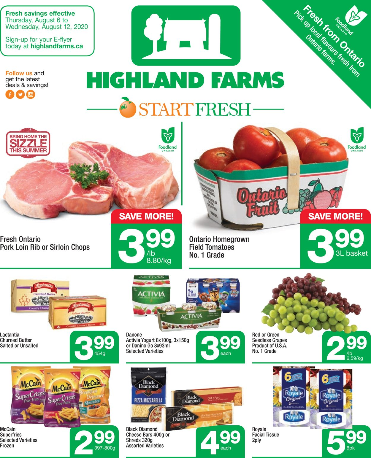 Highland Farms Flyer - 08/06-08/12/2020