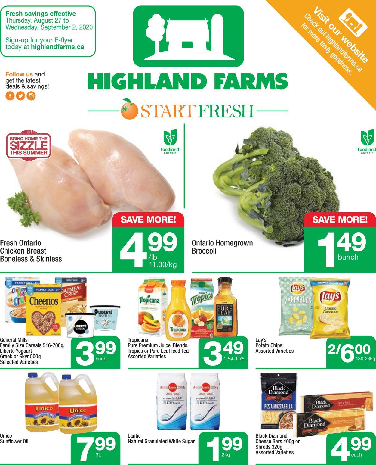 Highland Farms Flyer - 08/27-09/02/2020