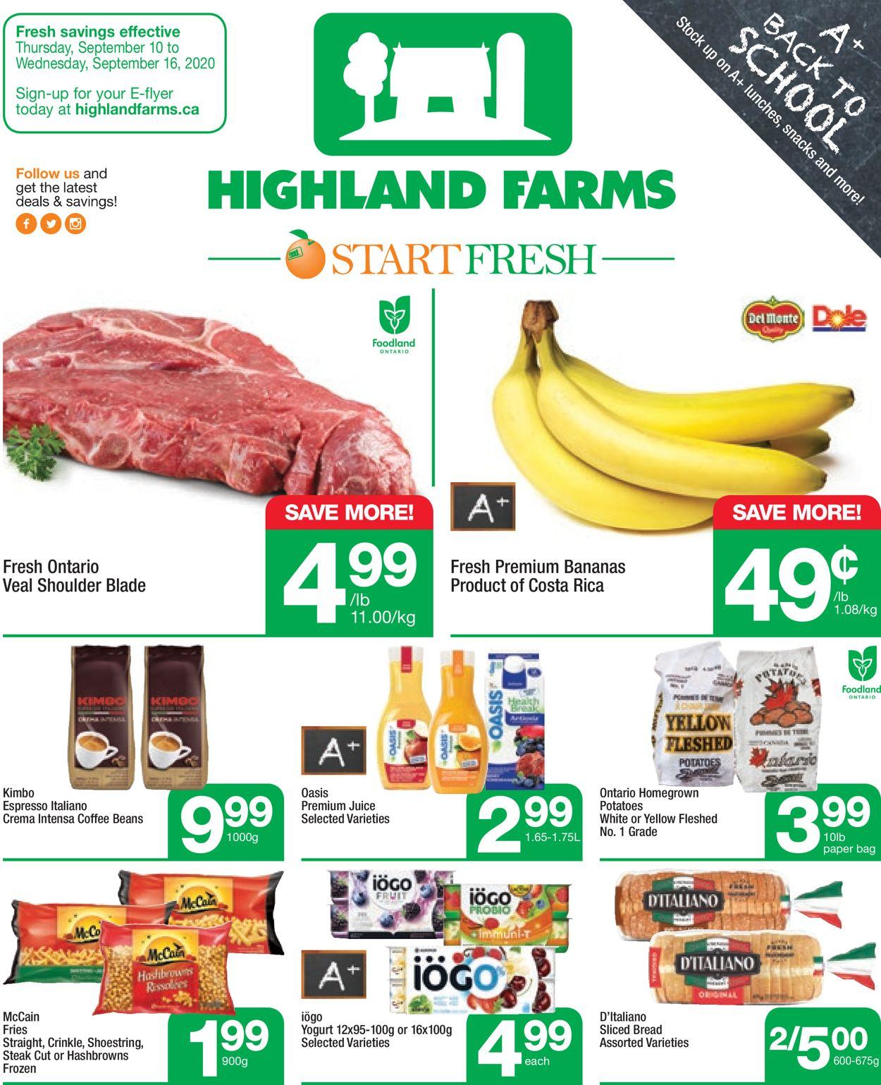 Highland Farms Flyer - 09/10-09/16/2020