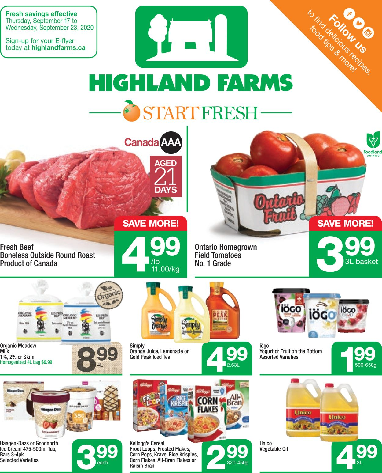 Highland Farms Flyer - 09/17-09/23/2020