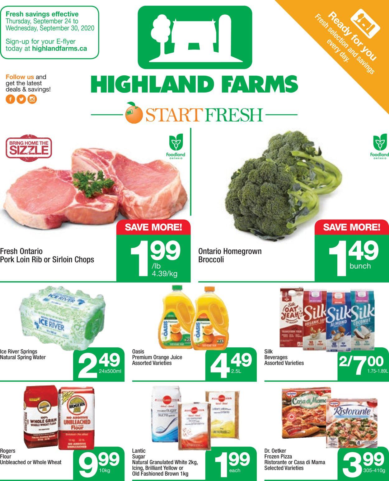 Highland Farms Flyer - 09/24-09/30/2020