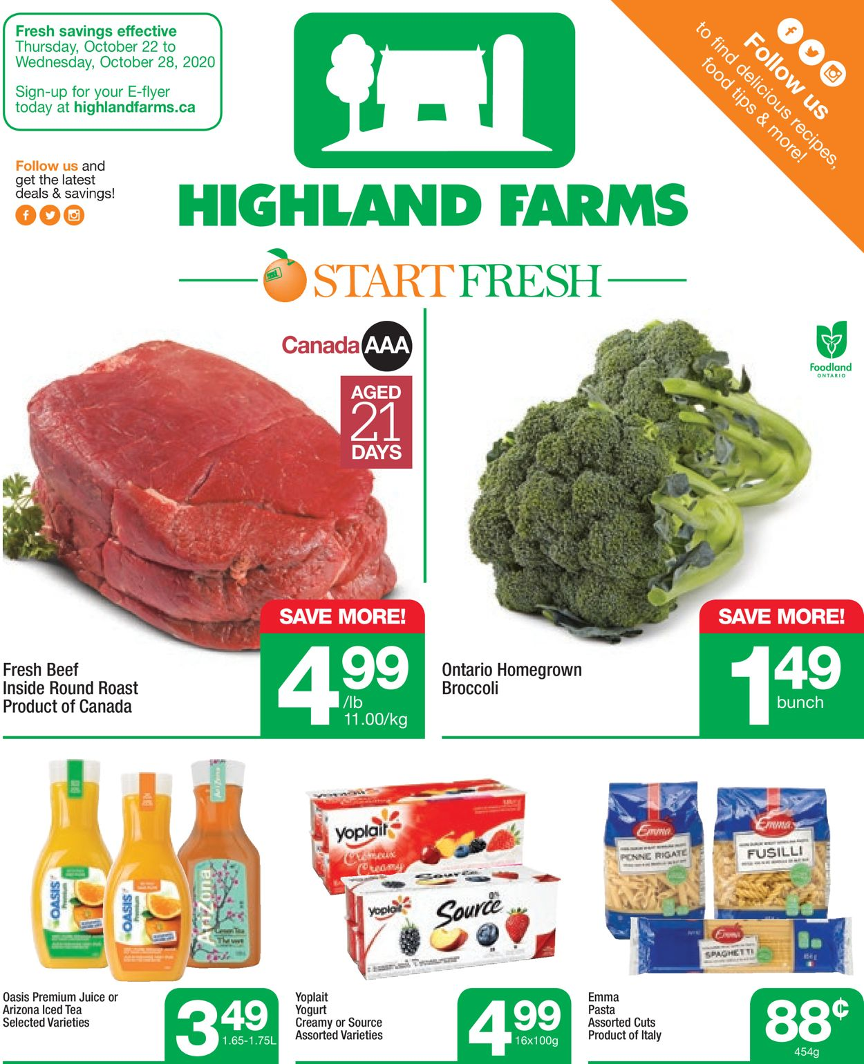 Highland Farms Flyer - 10/22-10/28/2020