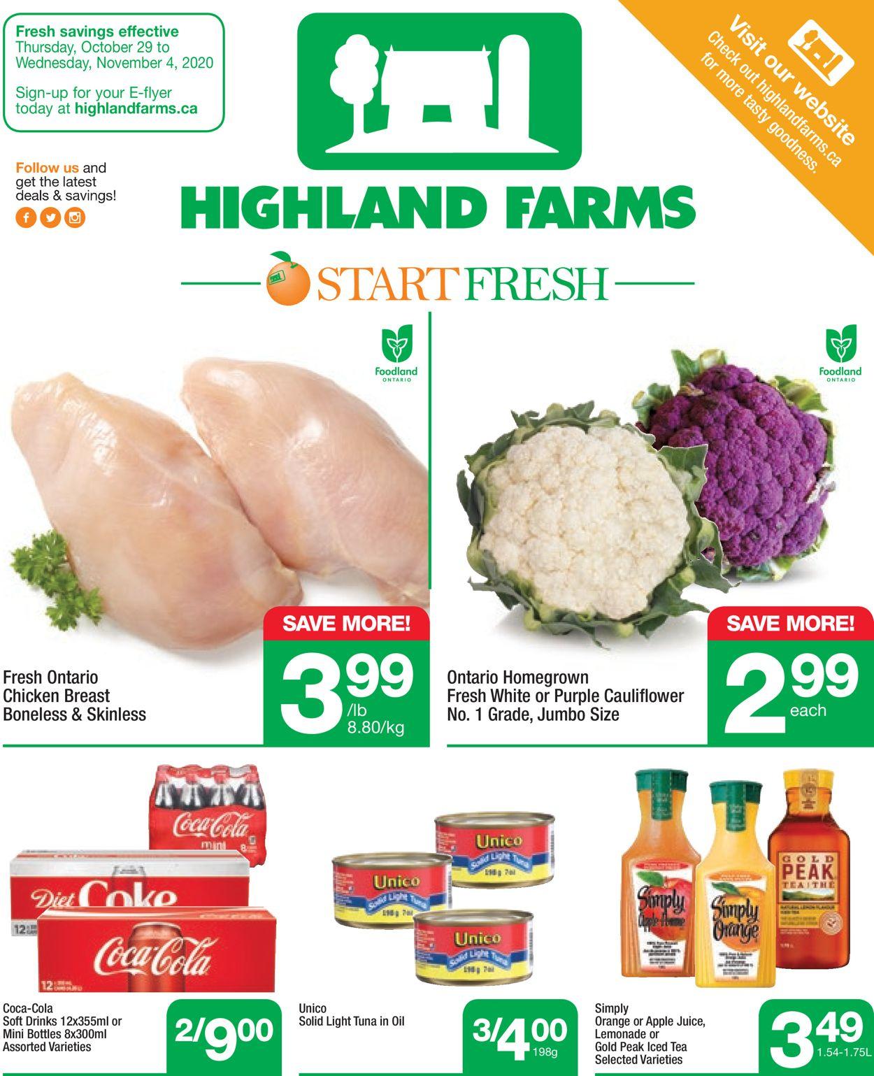 Highland Farms Flyer - 10/29-11/04/2020