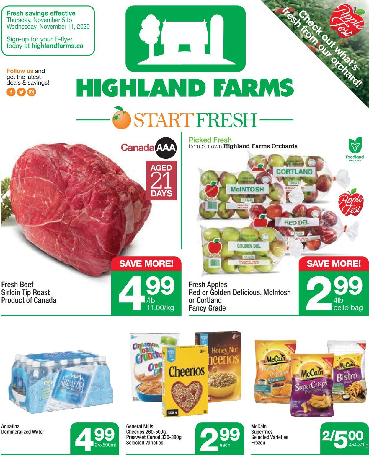 Highland Farms Flyer - 11/05-11/11/2020