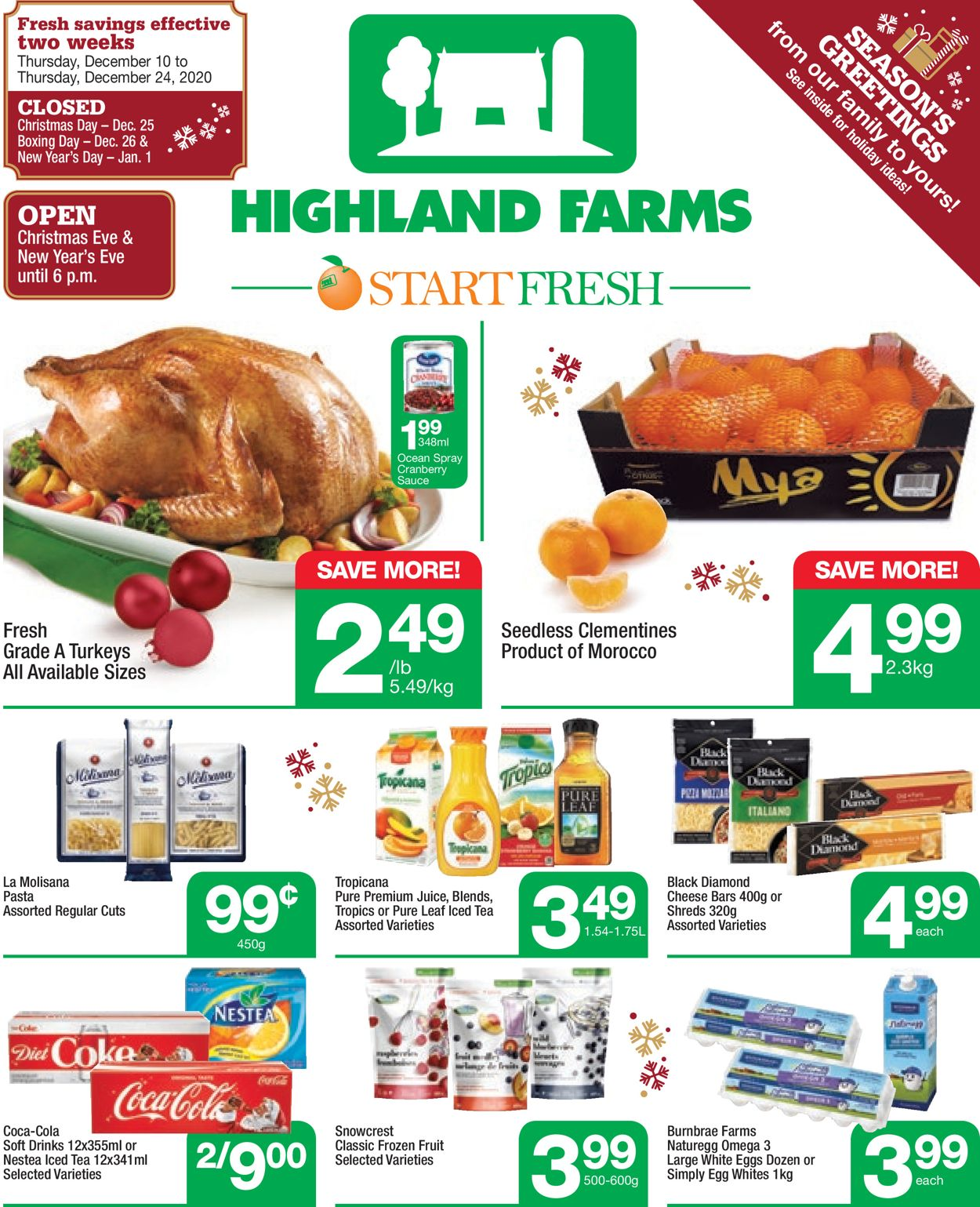 Highland Farms - Holiday 2020 Flyer - 12/10-12/24/2020