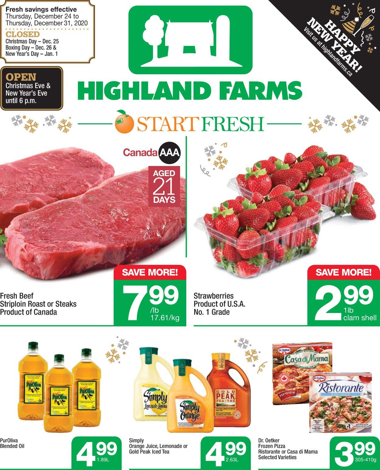Highland Farms Flyer - 12/24-12/31/2020