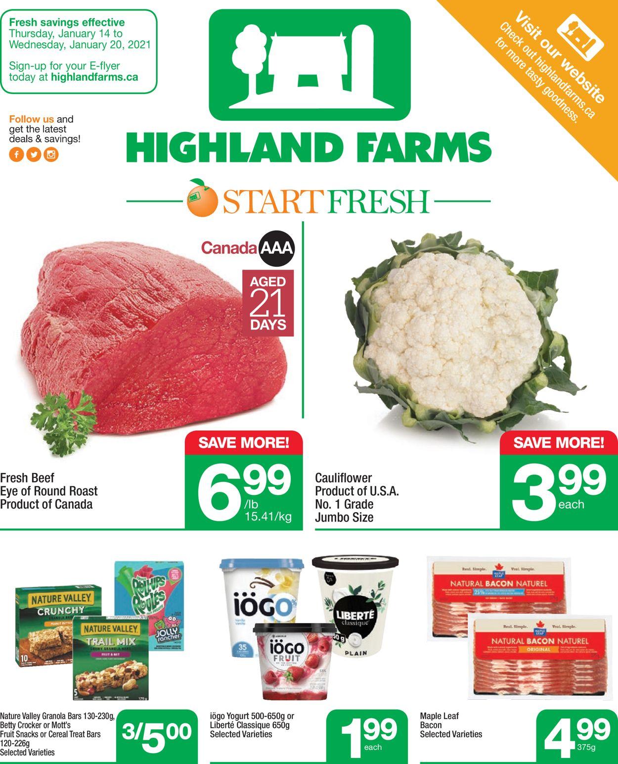 Highland Farms Flyer - 01/14-01/20/2021