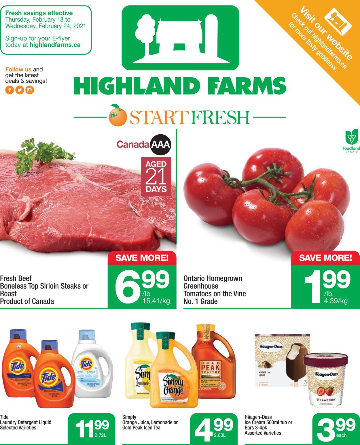 Highland Farms Flyer - 02/18-02/24/2021