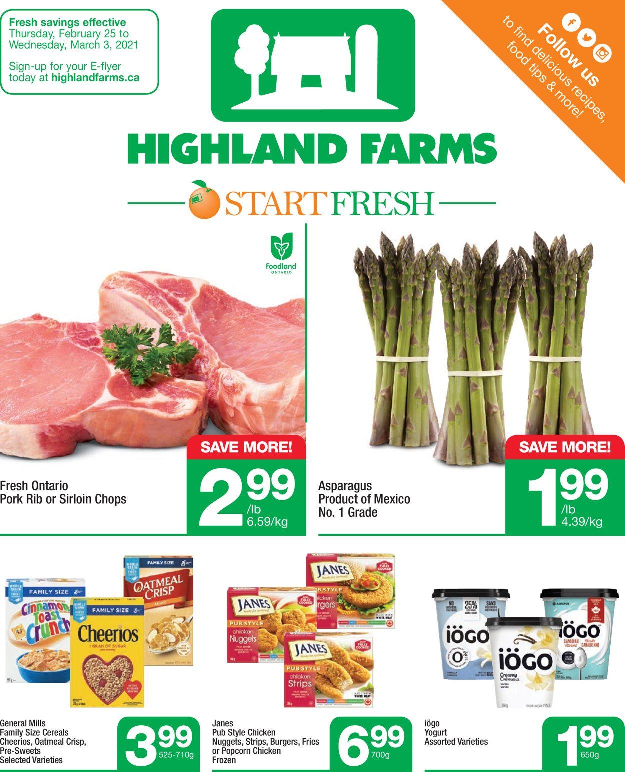 Highland Farms Flyer - 02/25-03/03/2021