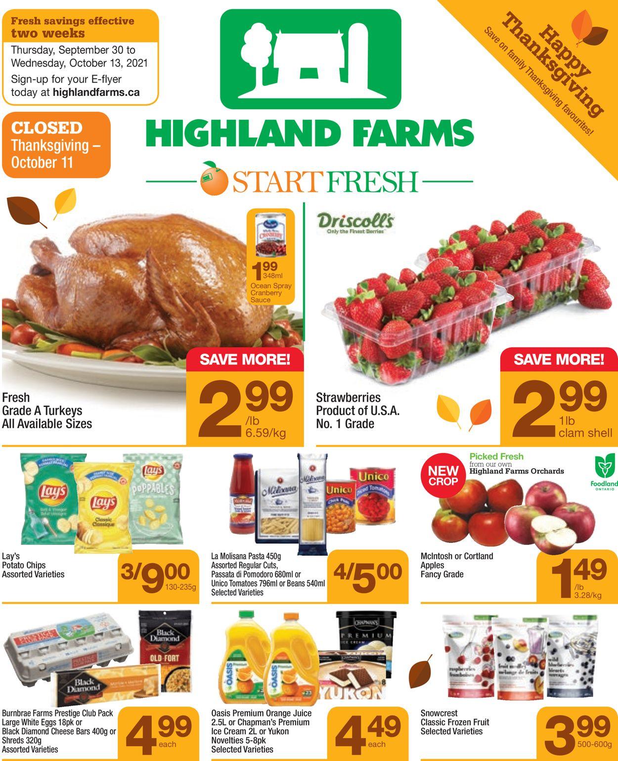 Highland Farms Flyer - 09/30-10/13/2021