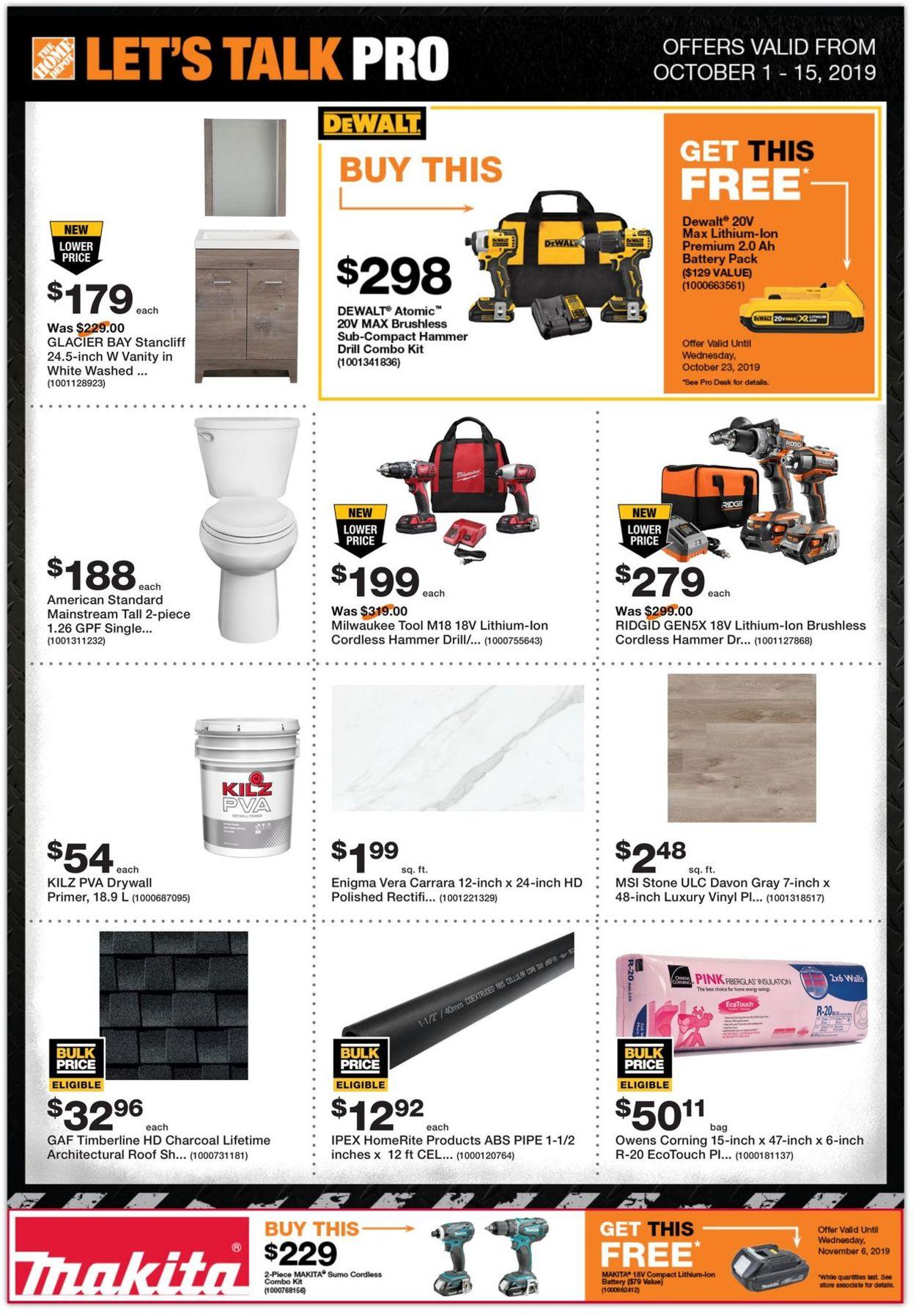 Home Depot Flyer - 10/01-10/15/2019