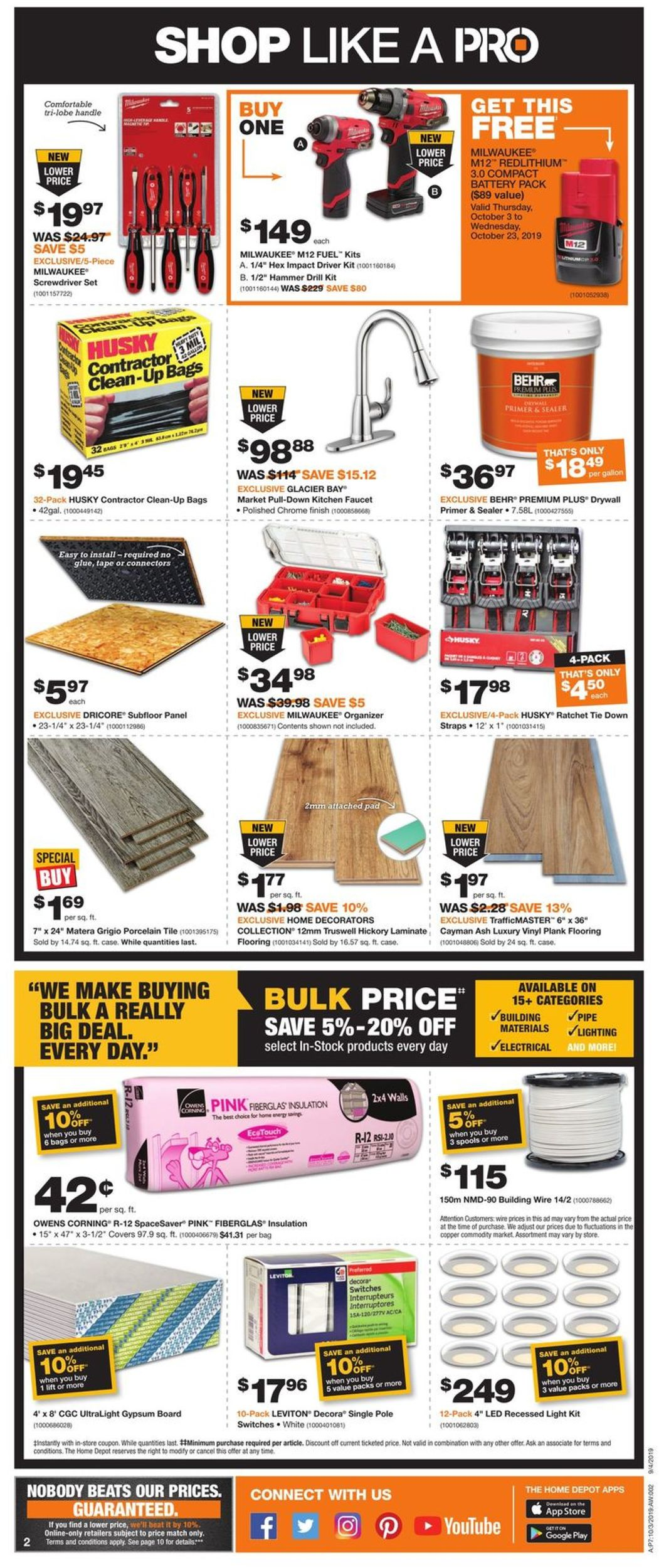 Home Depot Flyer - 10/03-10/09/2019 (Page 2)