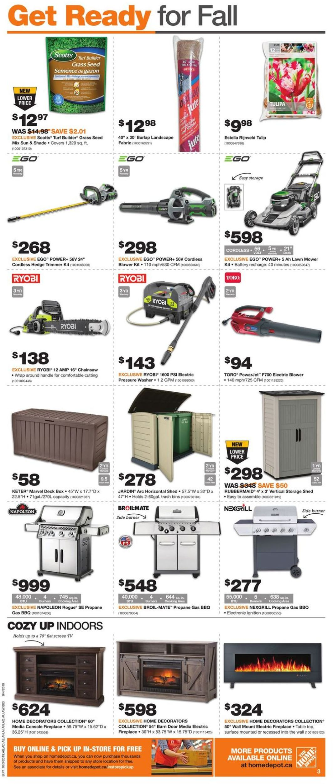 Home Depot Flyer - 10/03-10/09/2019 (Page 3)