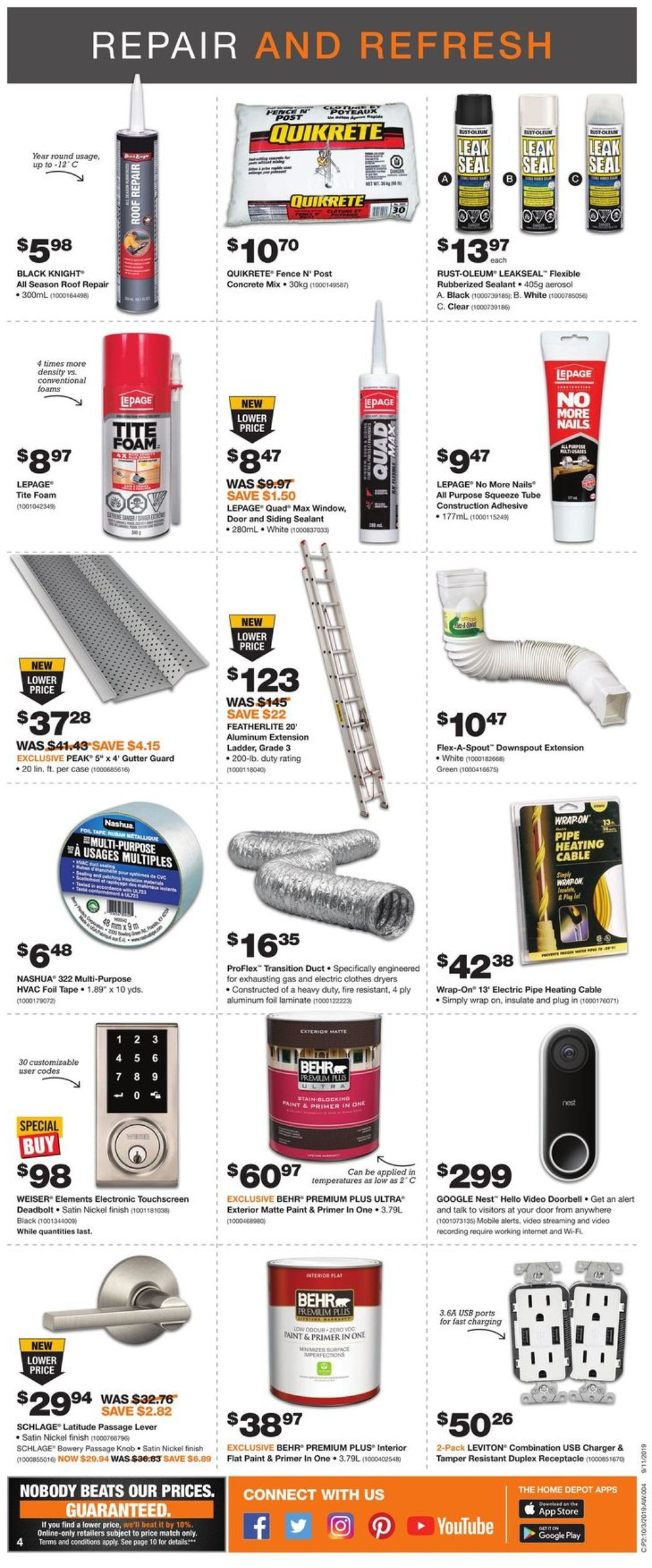 Home Depot Flyer - 10/03-10/09/2019 (Page 4)