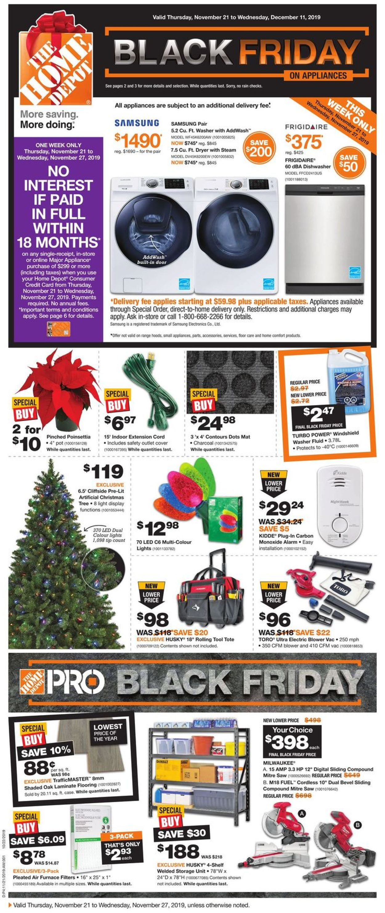 Home Depot BLACK FRIDAY FLYER 2019