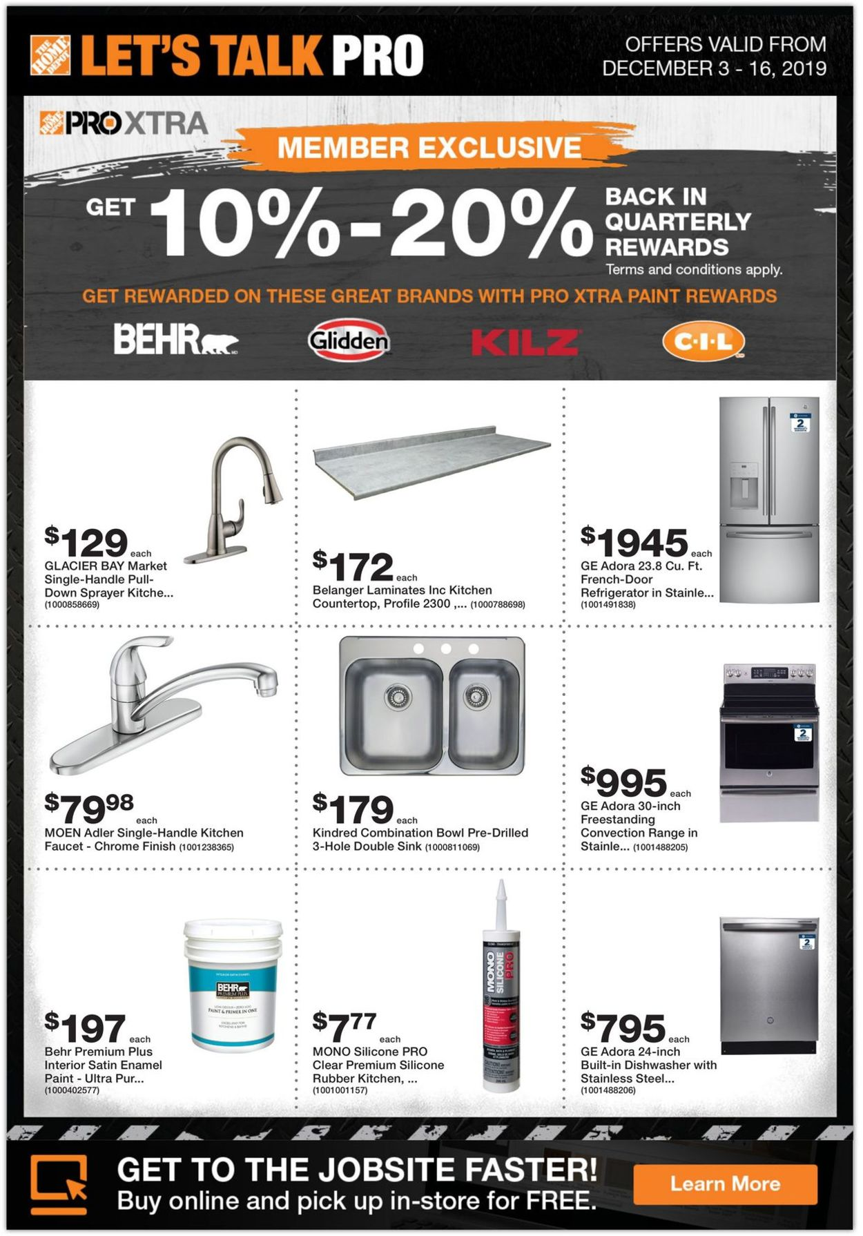 Home Depot Flyer - 12/03-12/16/2019