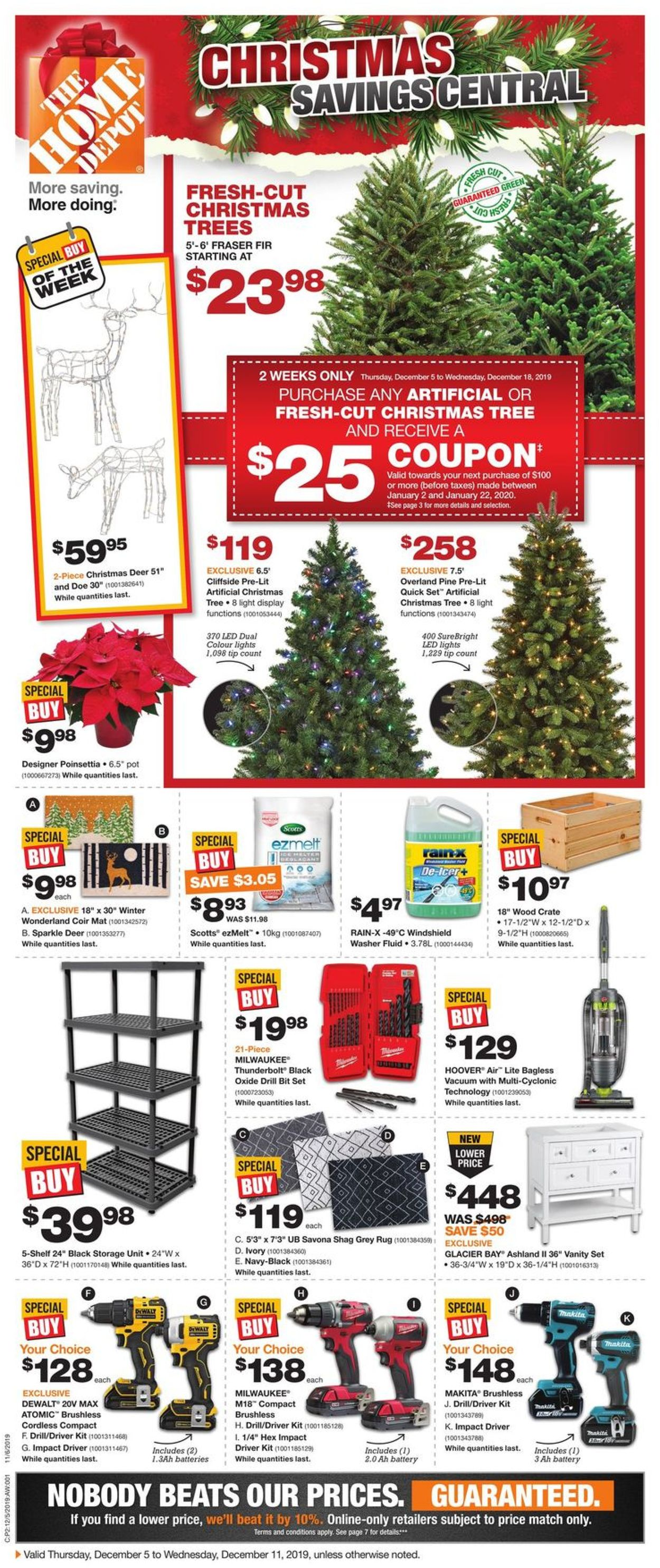 Home Depot - Christmas 2019 Flyer Flyer - 12/05-12/11/2019