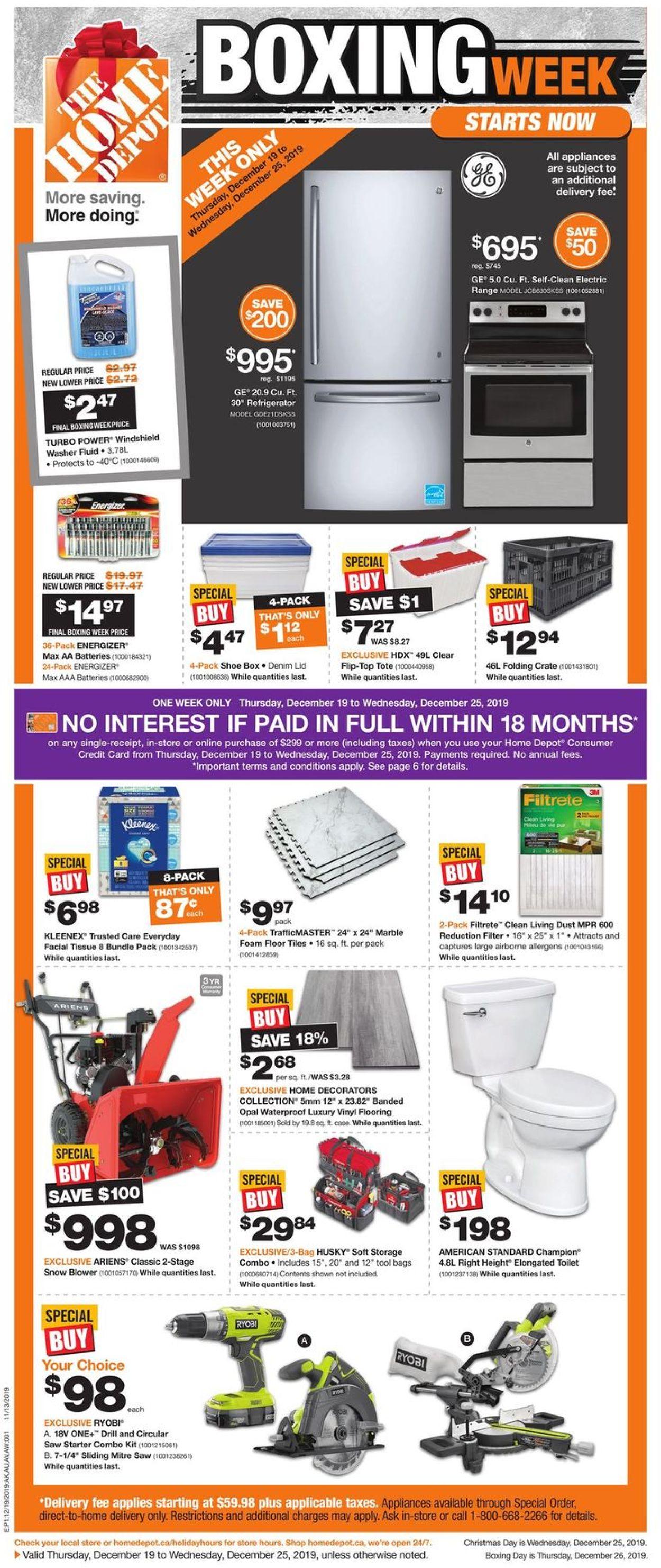 Home Depot - Christmas 2019 Flyer - Boxing Week Deals