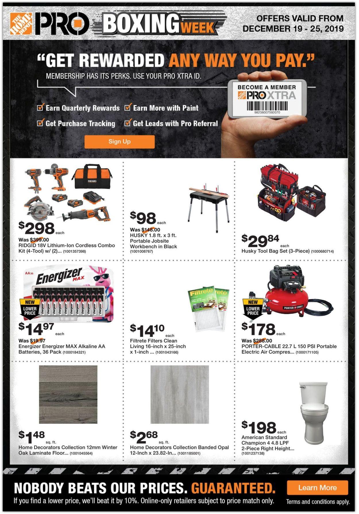 Home Depot - PRE BOXING WEEK SALE