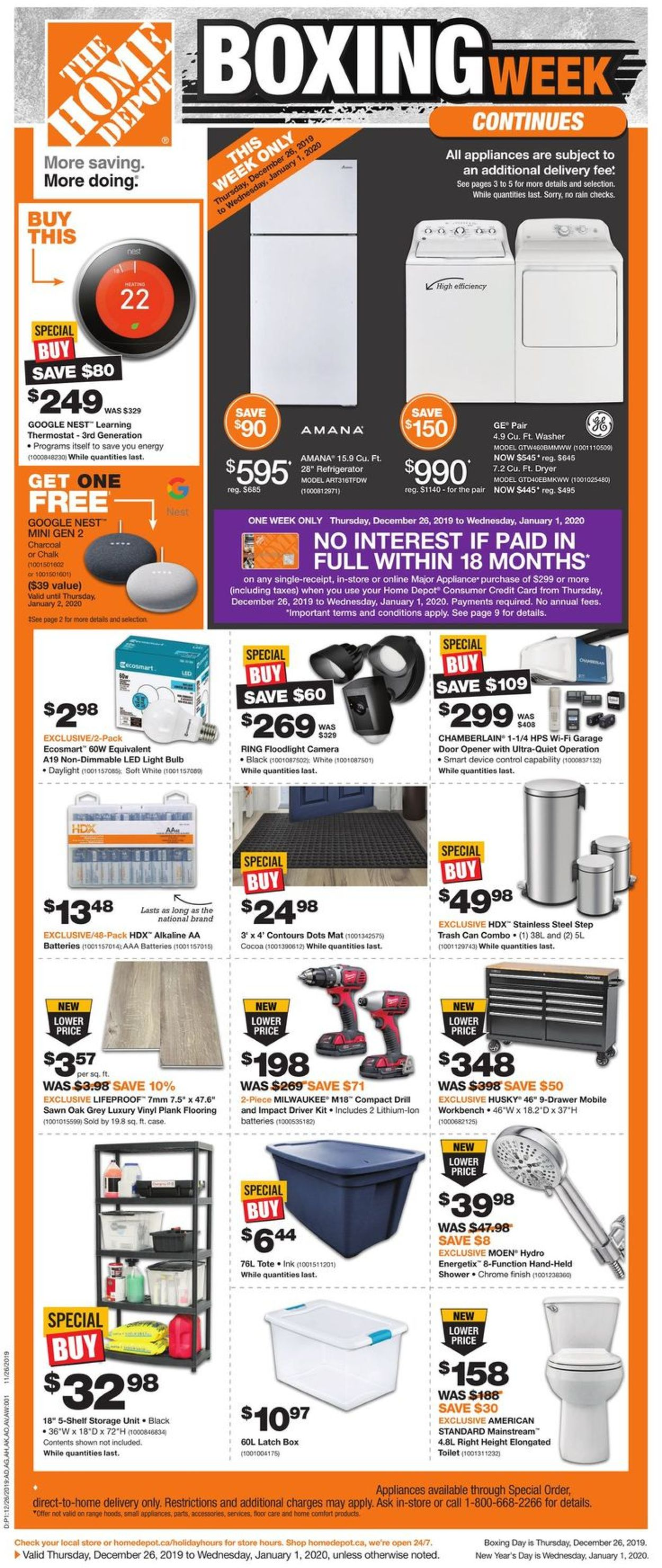 Home Depot - Boxing Week SALE Flyer - 12/26-01/01/2020