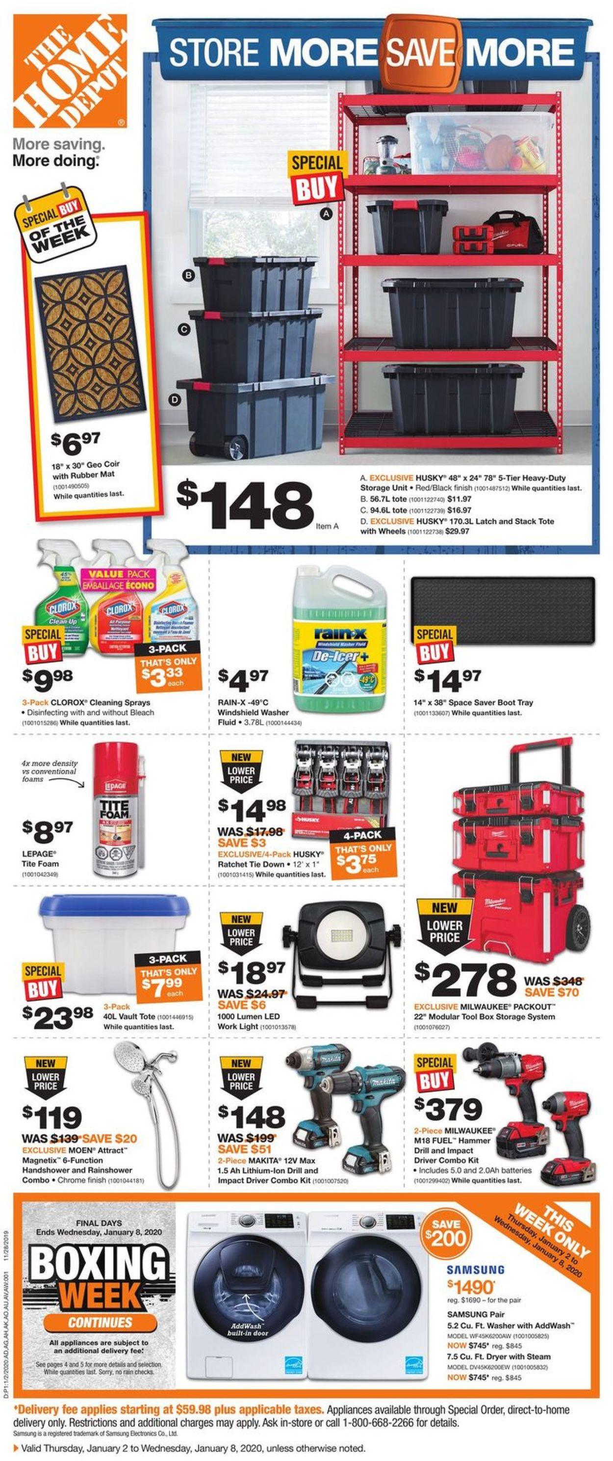 Home Depot Flyer - 01/02-01/08/2020