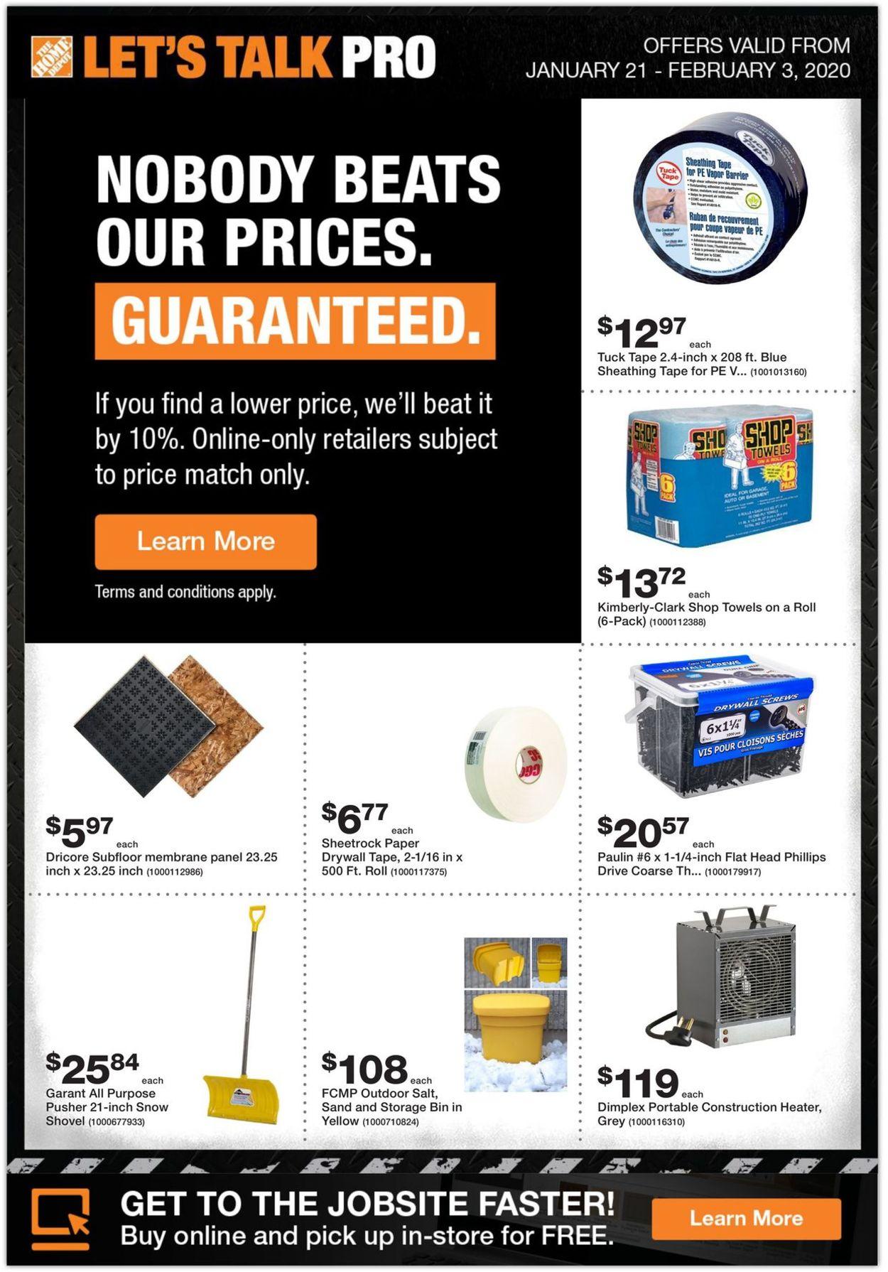 Home Depot Flyer - 01/21-02/03/2020