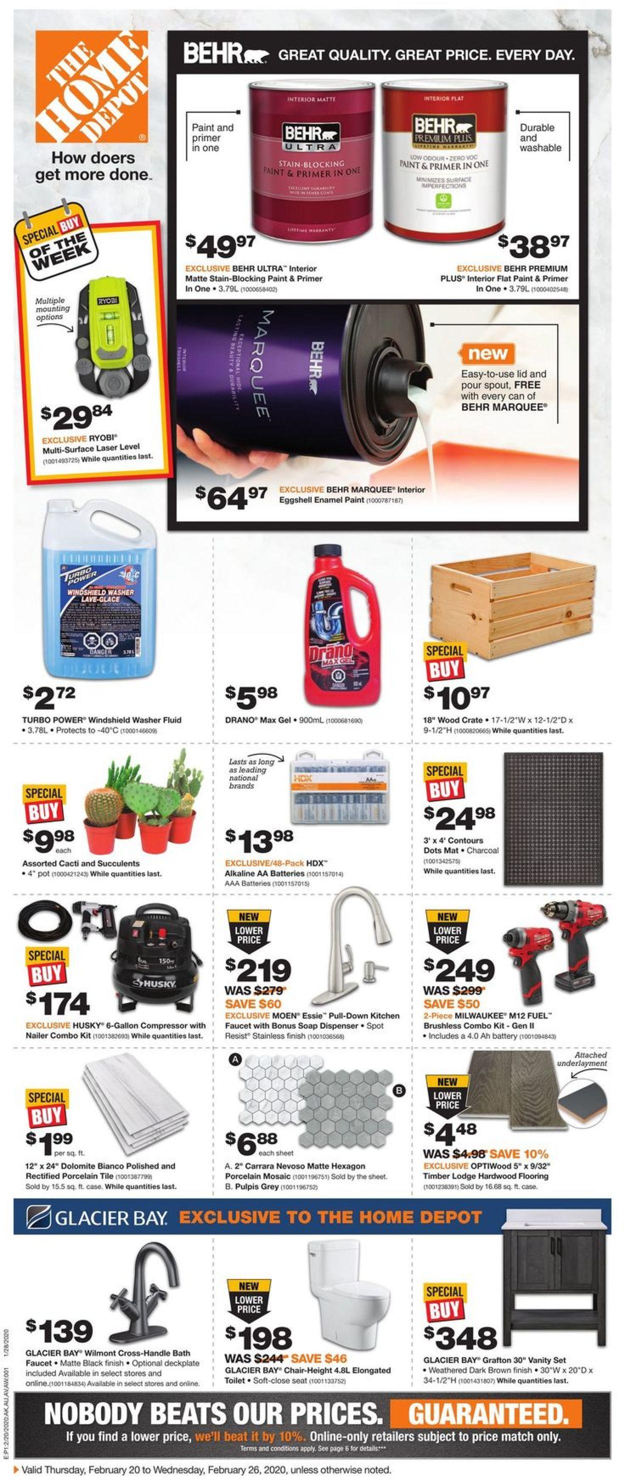 Home Depot Flyer - 02/20-02/26/2020