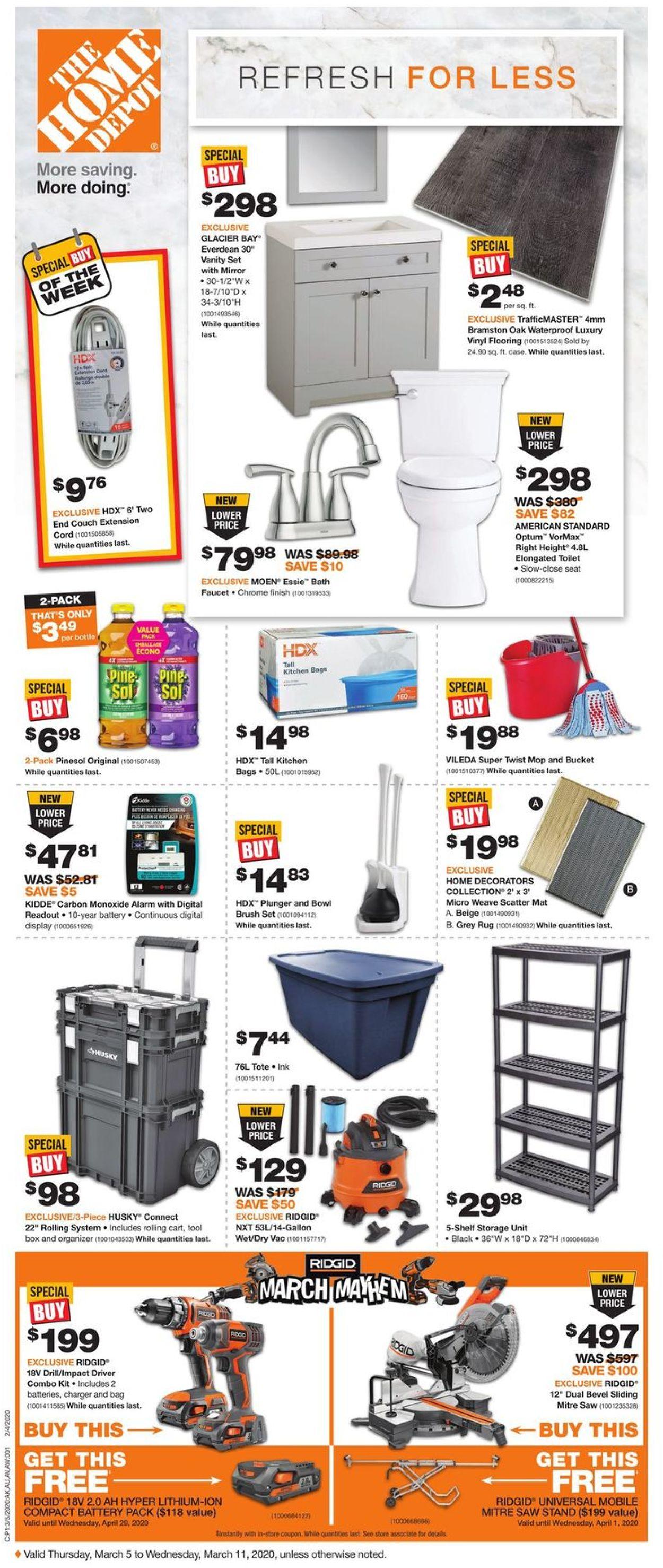 Home Depot Flyer - 03/05-03/11/2020