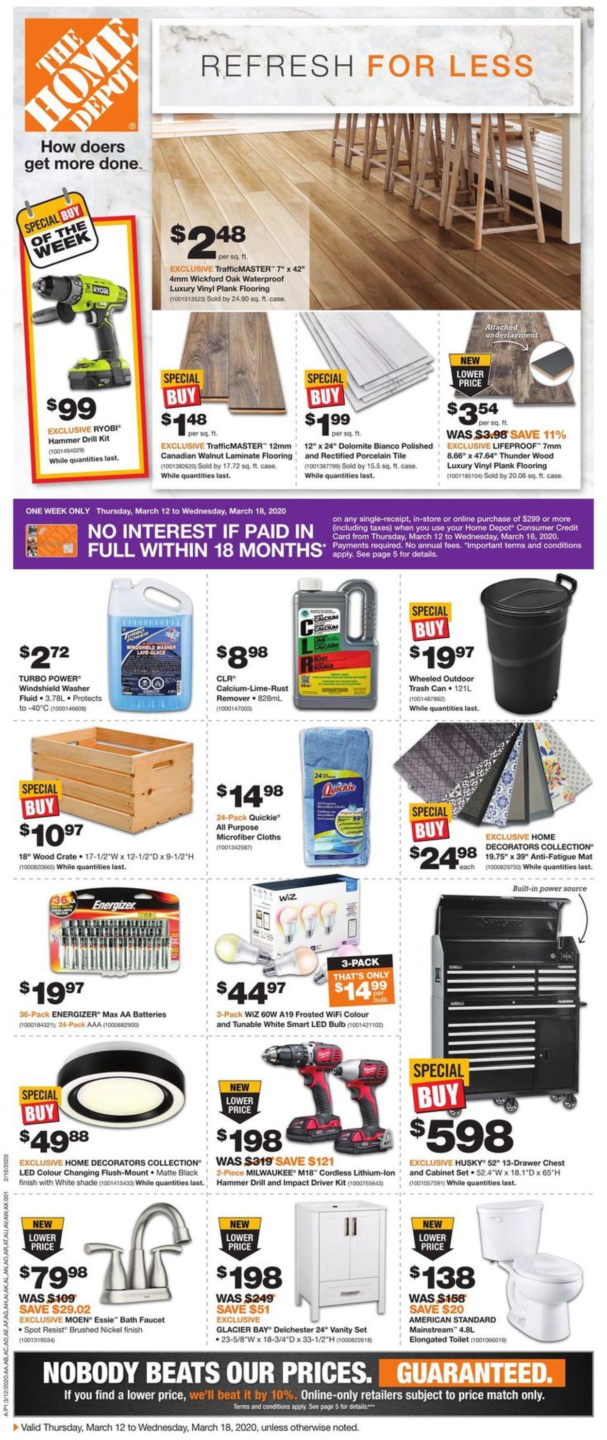 Home Depot Flyer - 03/12-03/18/2020