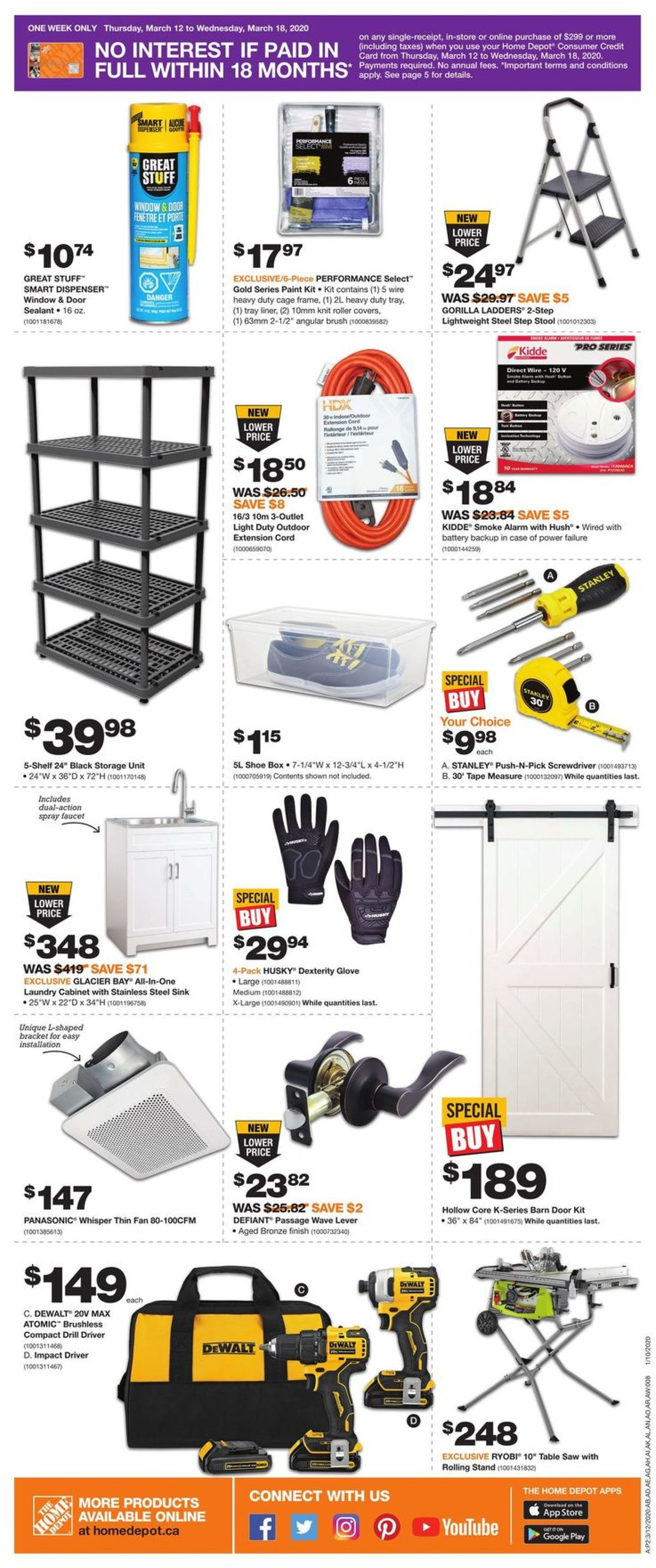 Home Depot Flyer - 03/12-03/18/2020 (Page 2)