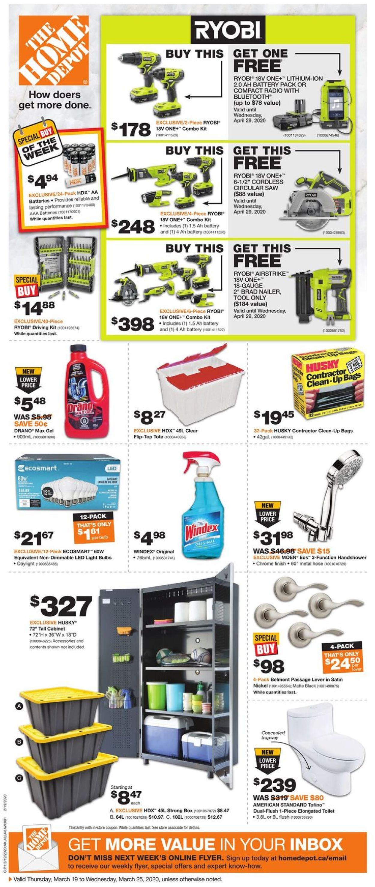 Home Depot Flyer - 03/19-03/25/2020