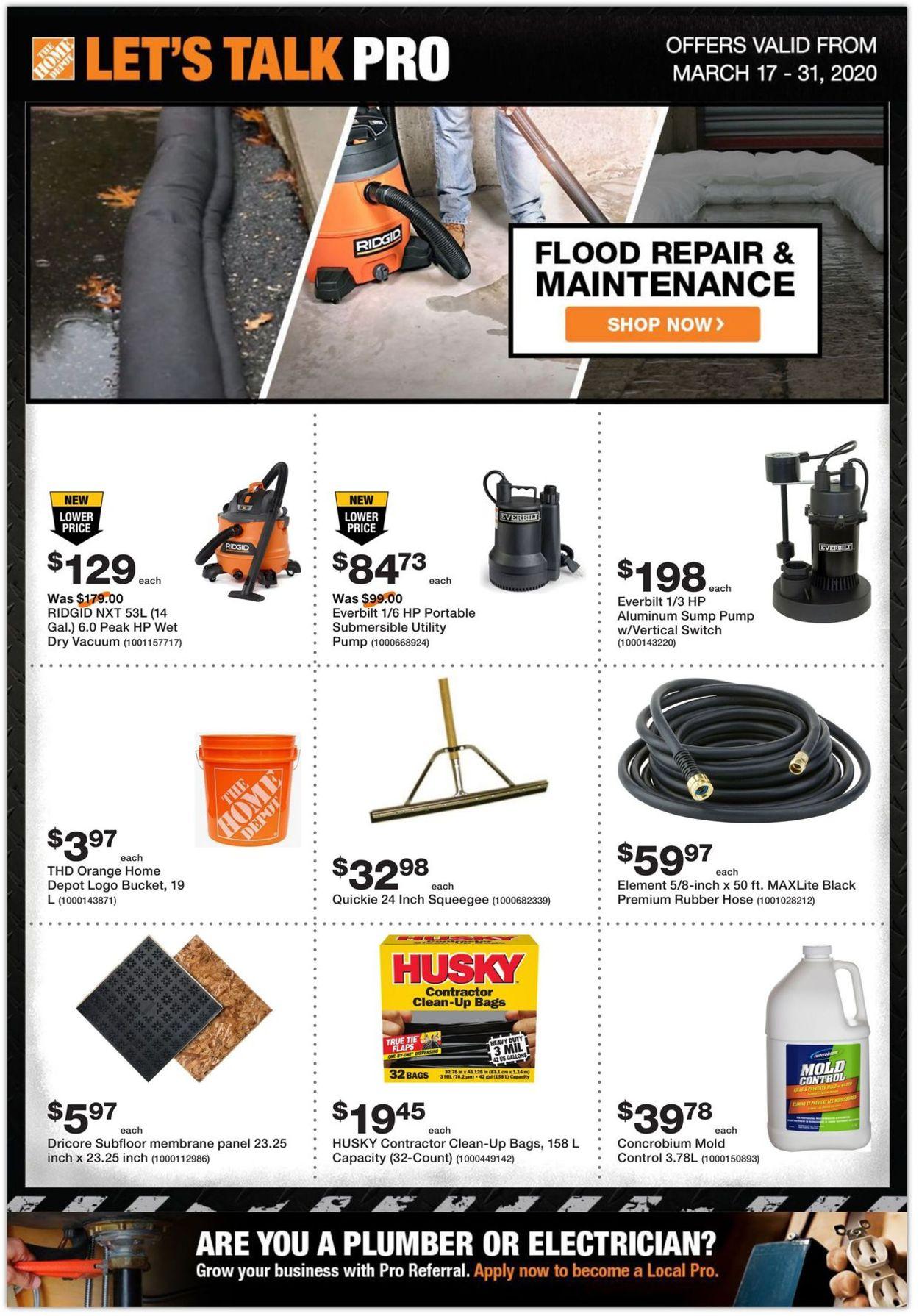 Home Depot Flyer - 03/17-03/31/2020