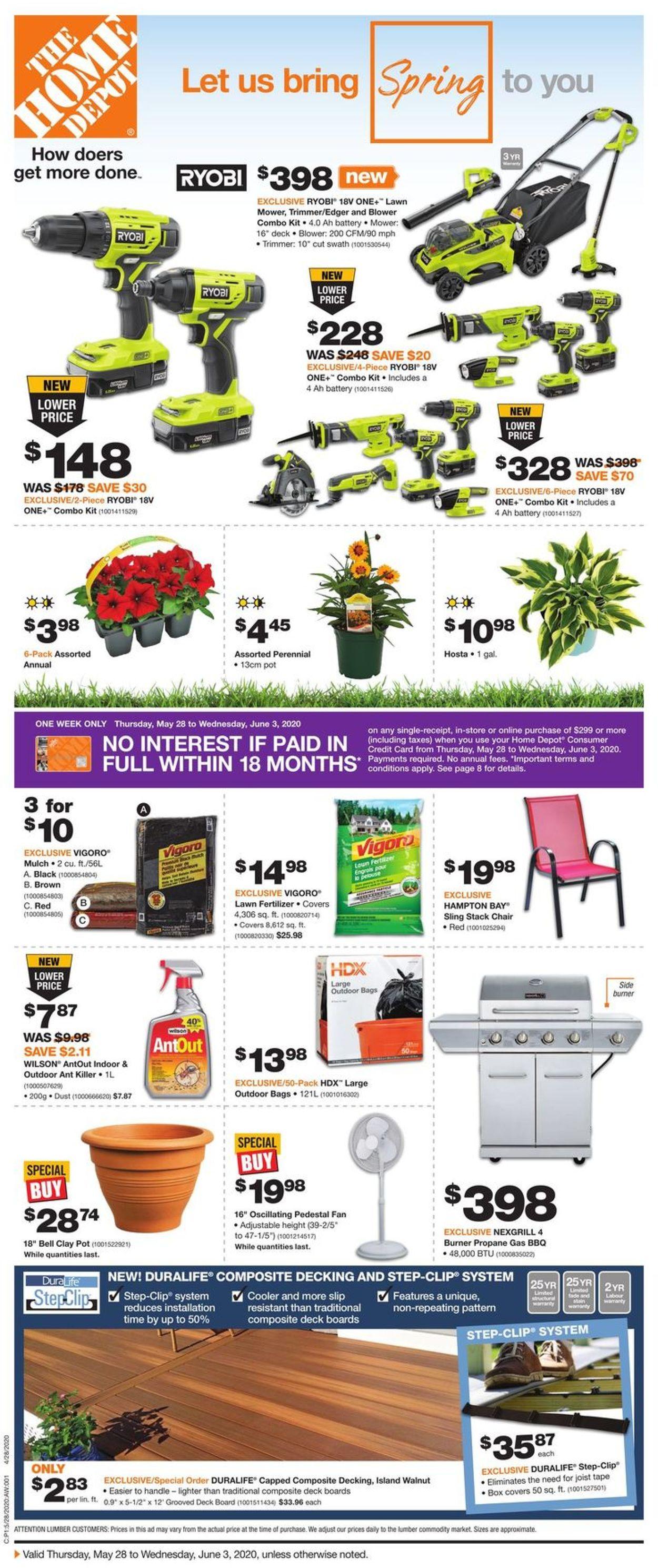 Home Depot Flyer - 05/28-06/03/2020