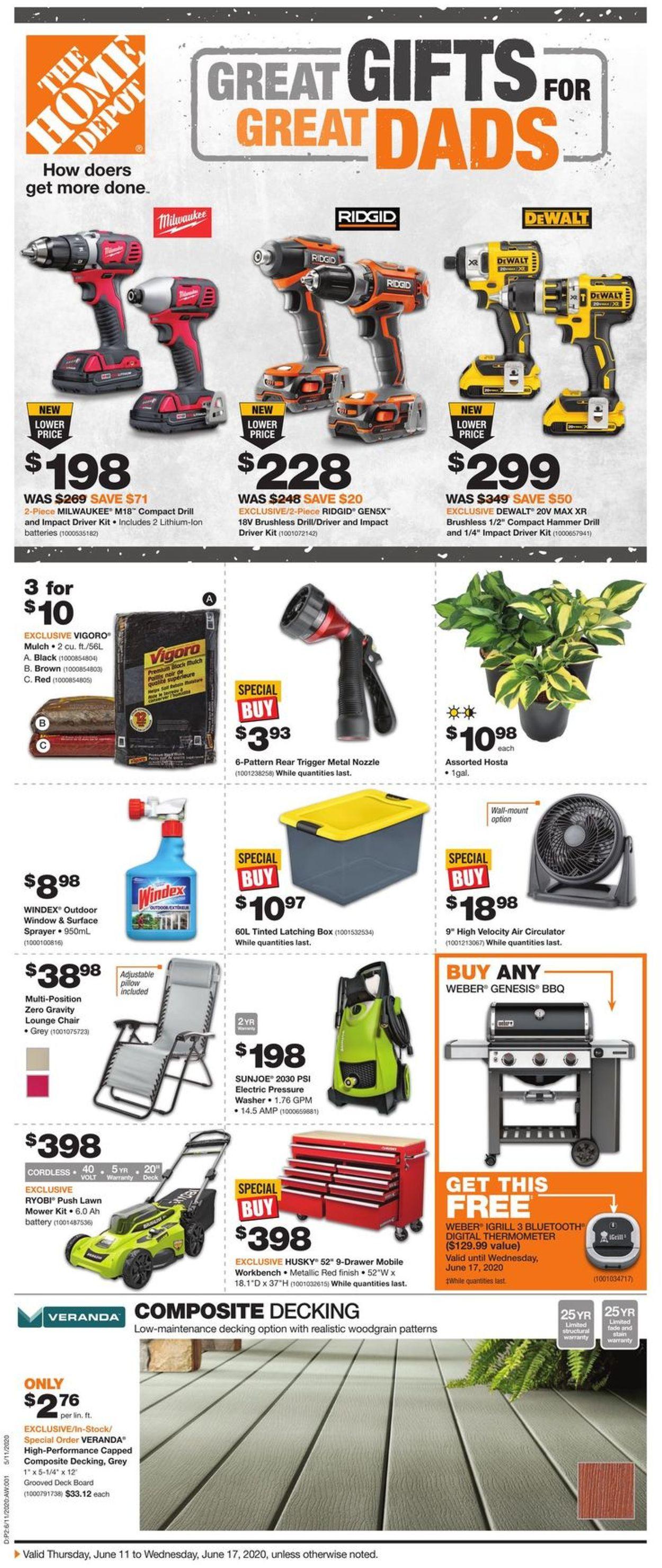 Home Depot Flyer - 06/11-06/17/2020