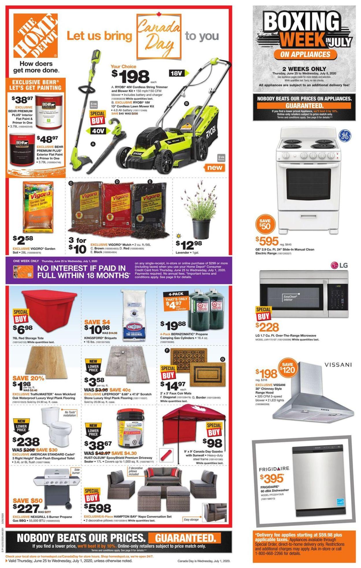 Home Depot Flyer - 06/25-07/01/2020