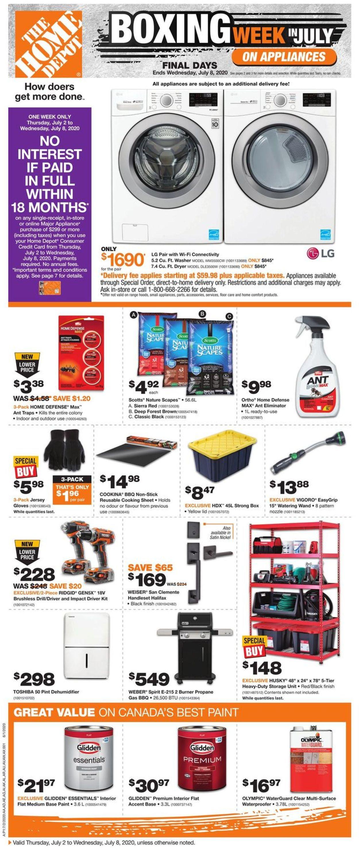 Home Depot Flyer - 07/02-07/08/2020