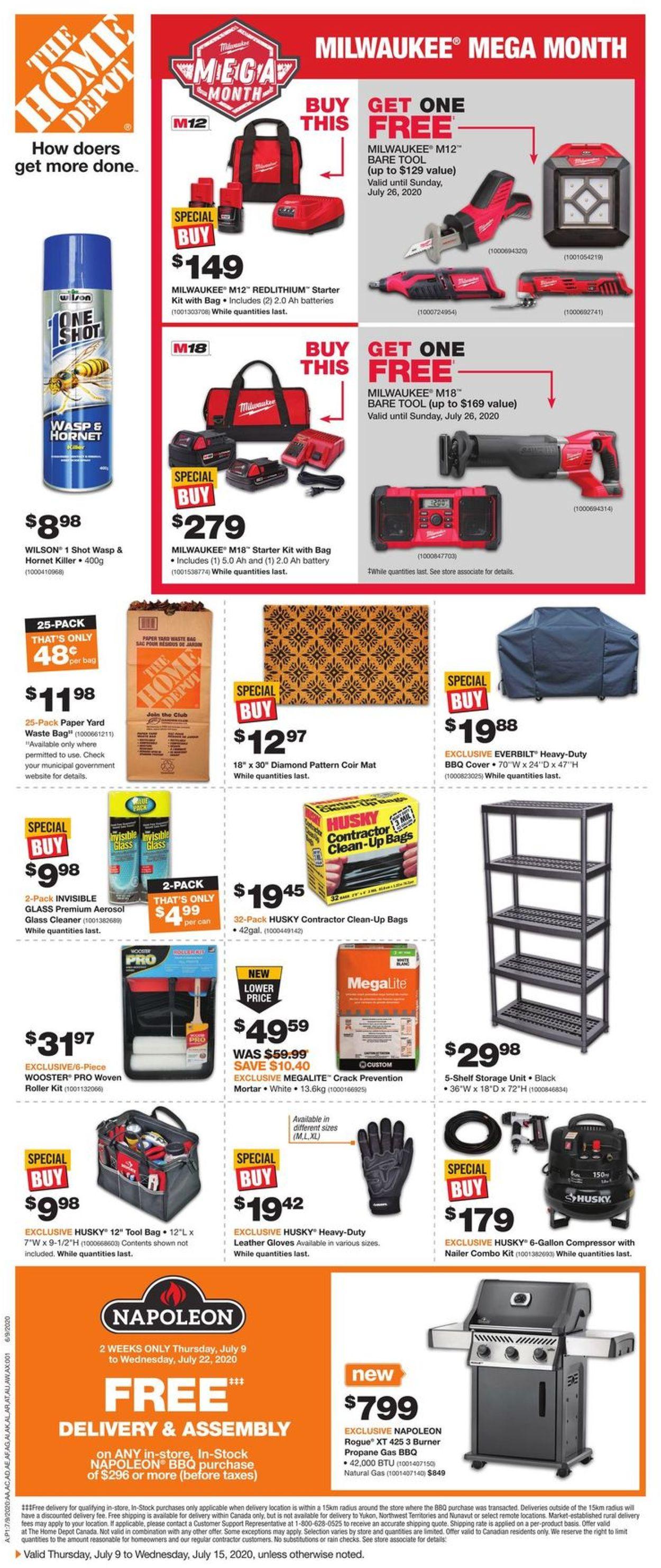 Home Depot Flyer - 07/09-07/15/2020