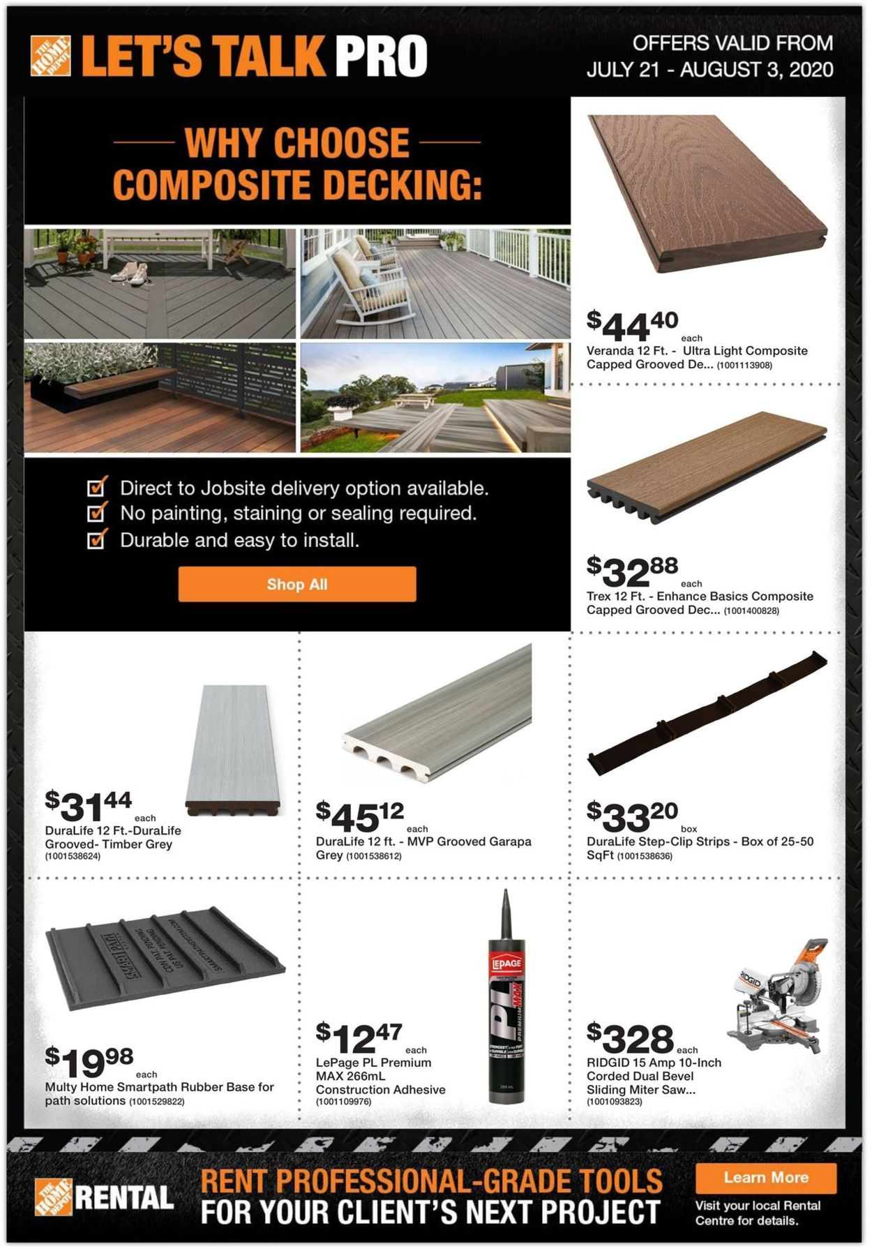 Home Depot Flyer - 07/21-08/03/2020