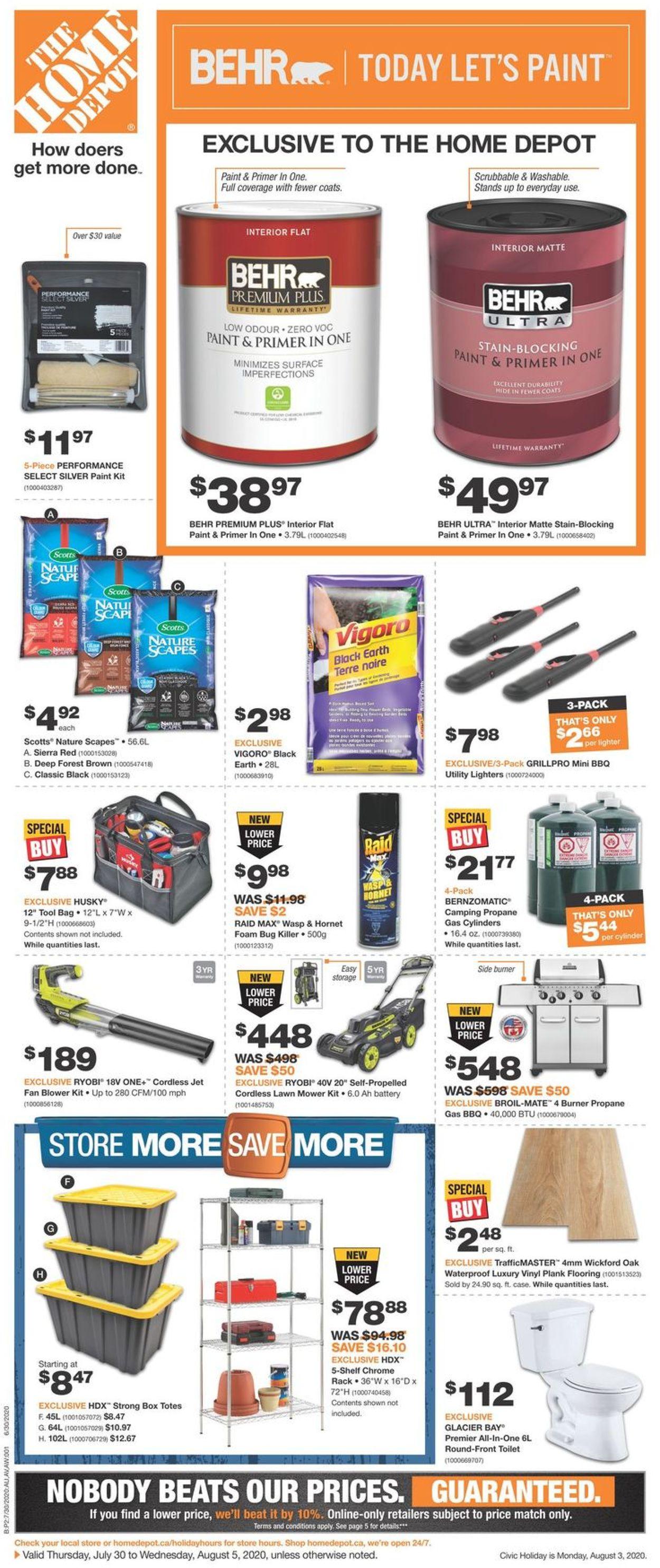 Home Depot Flyer - 07/30-08/05/2020