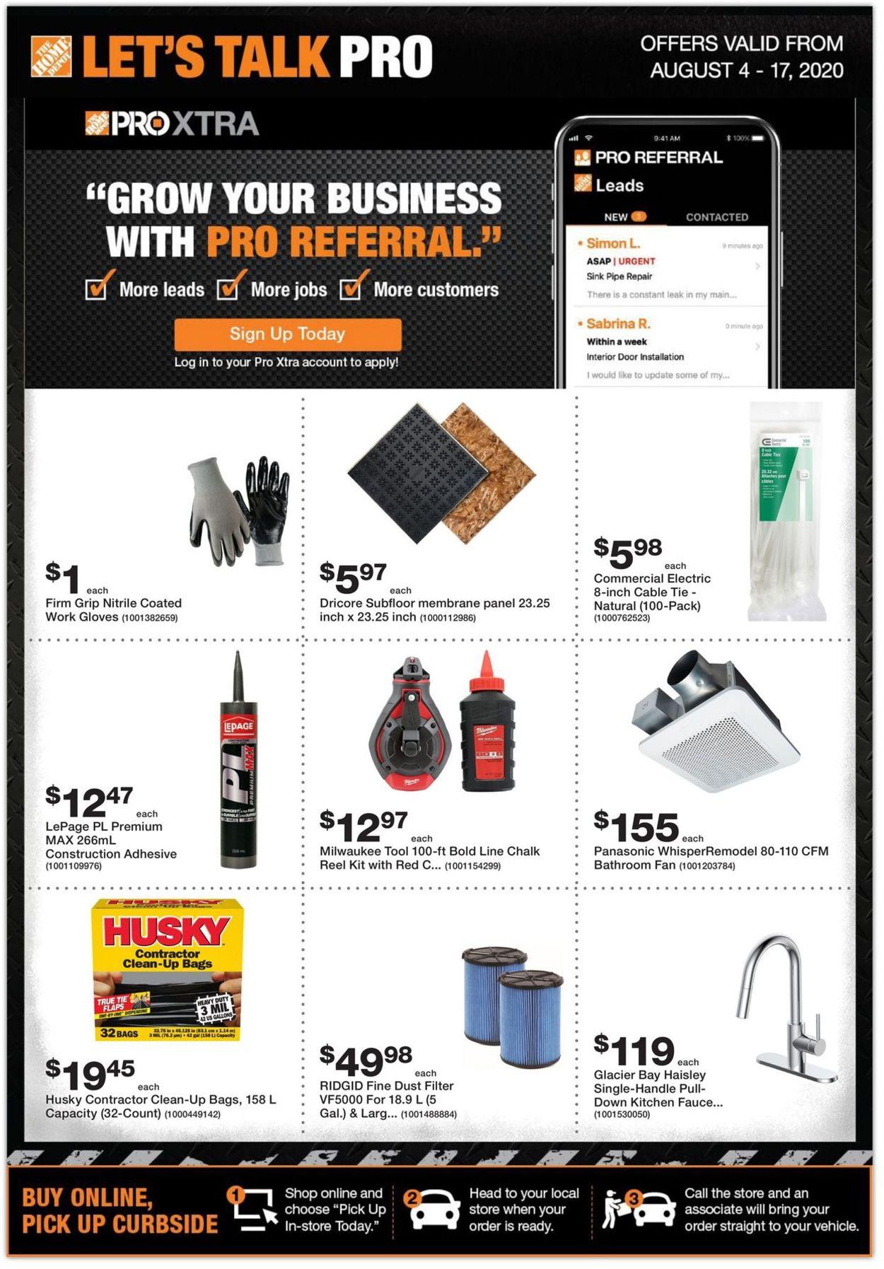 Home Depot Flyer - 08/04-08/17/2020