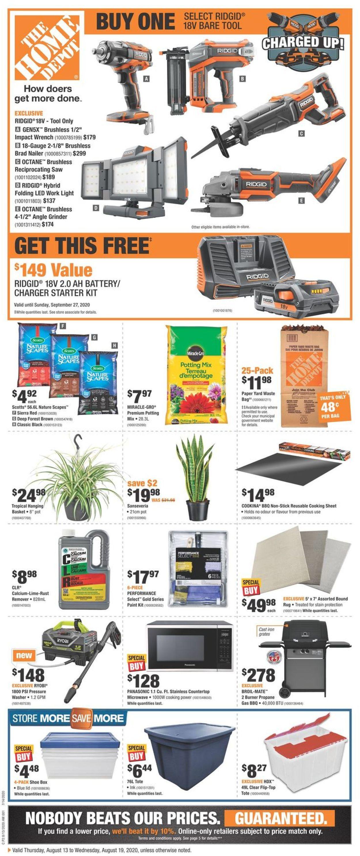 Home Depot Flyer - 08/13-08/19/2020