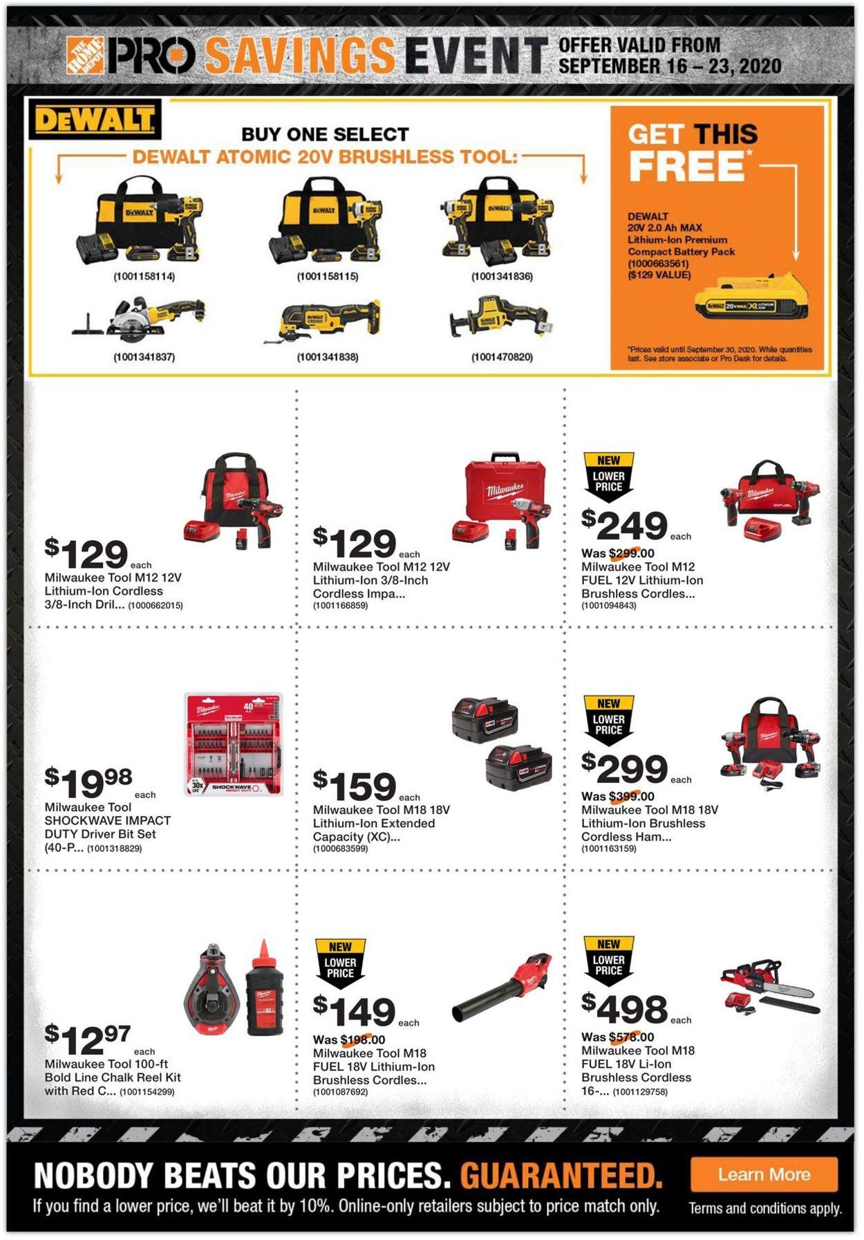 Home Depot Flyer - 09/16-09/23/2020