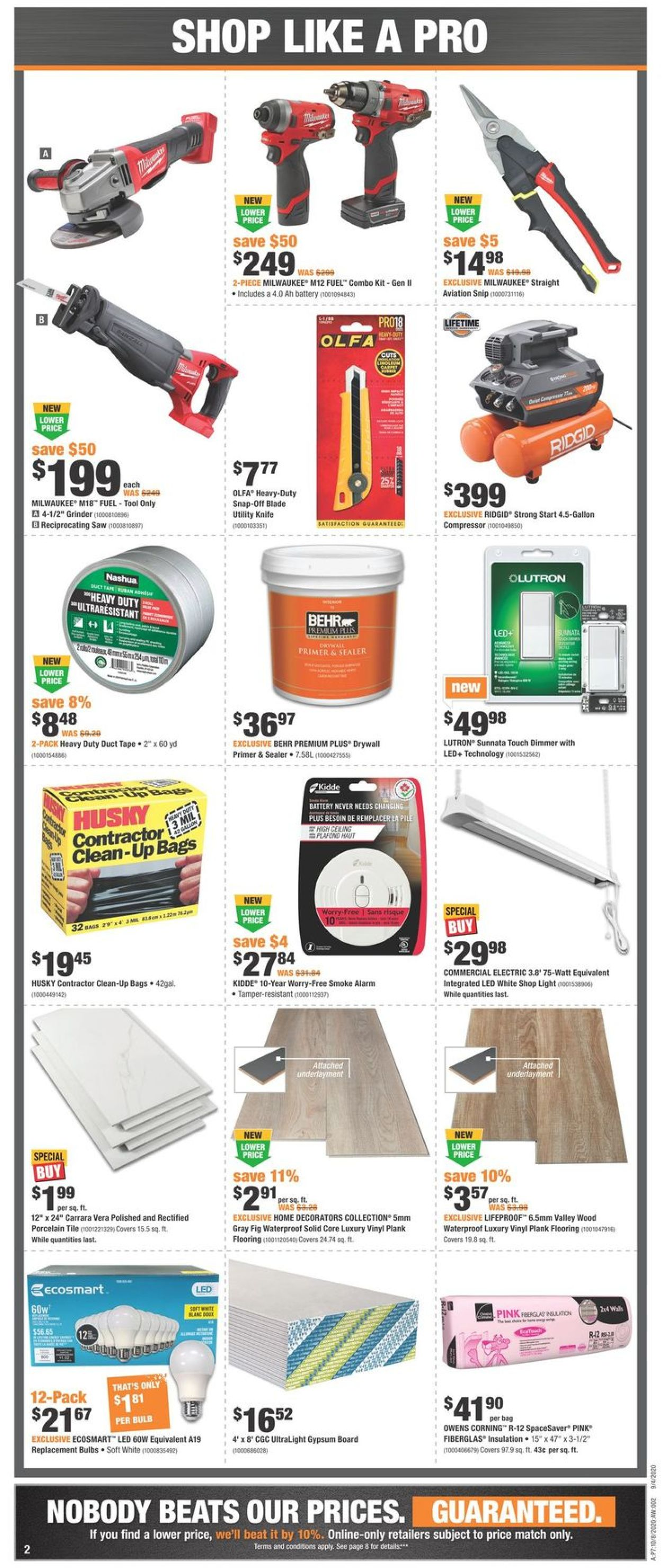 Home Depot Flyer - 10/08-10/14/2020 (Page 2)
