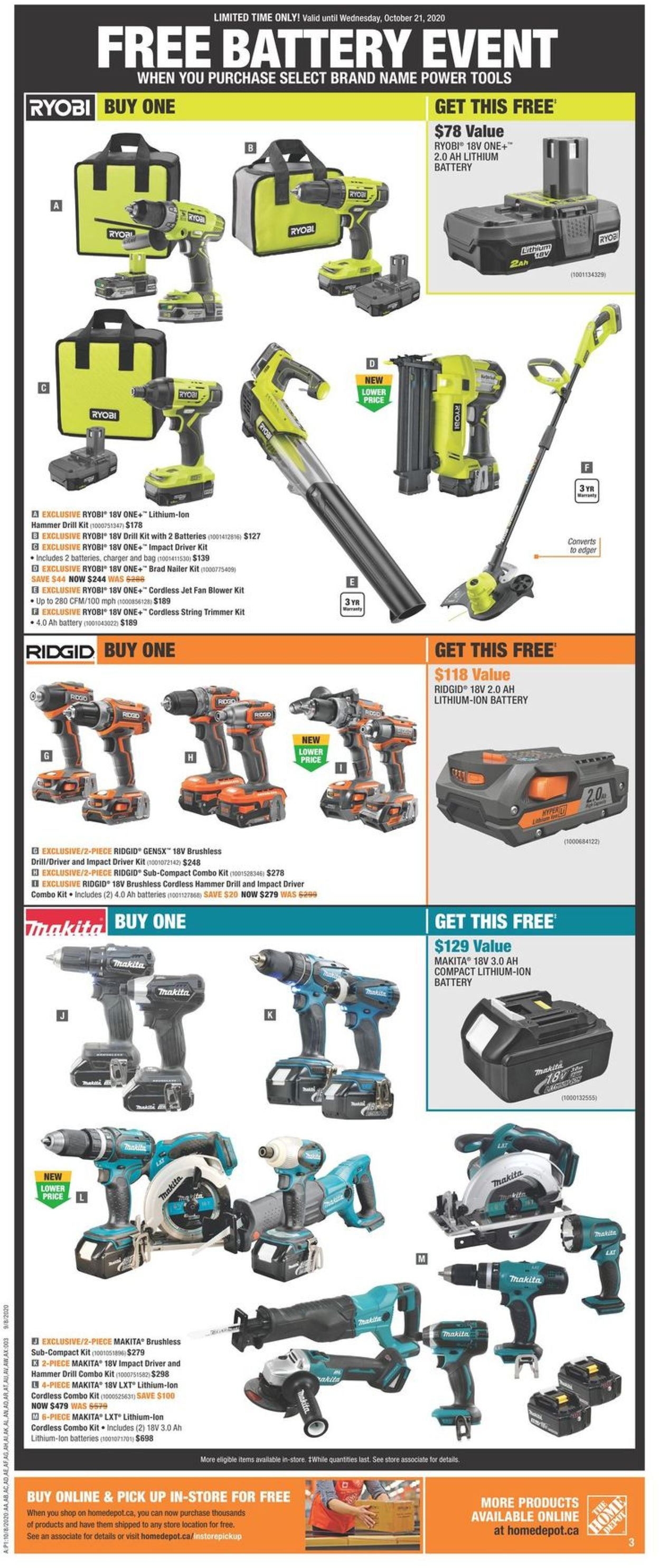 Home Depot Flyer - 10/08-10/14/2020 (Page 3)
