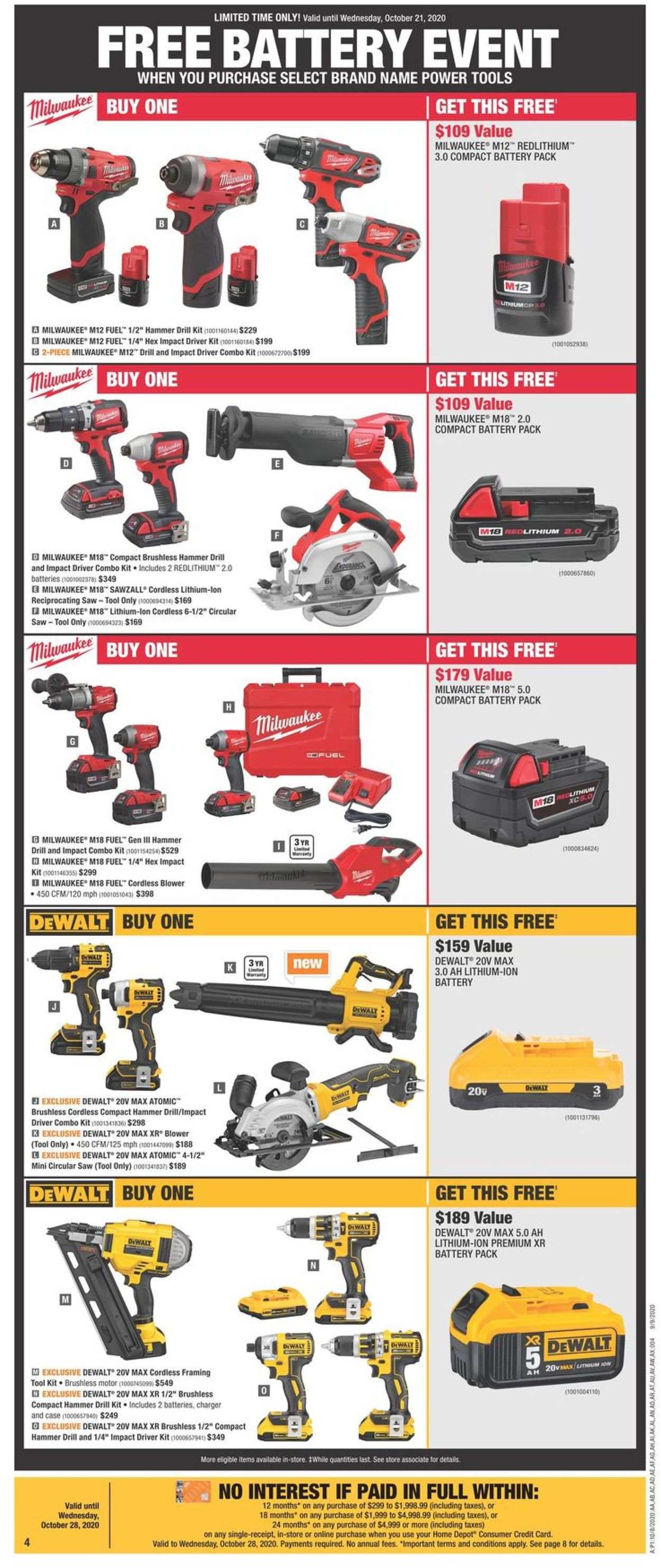 Home Depot Flyer - 10/08-10/14/2020 (Page 4)