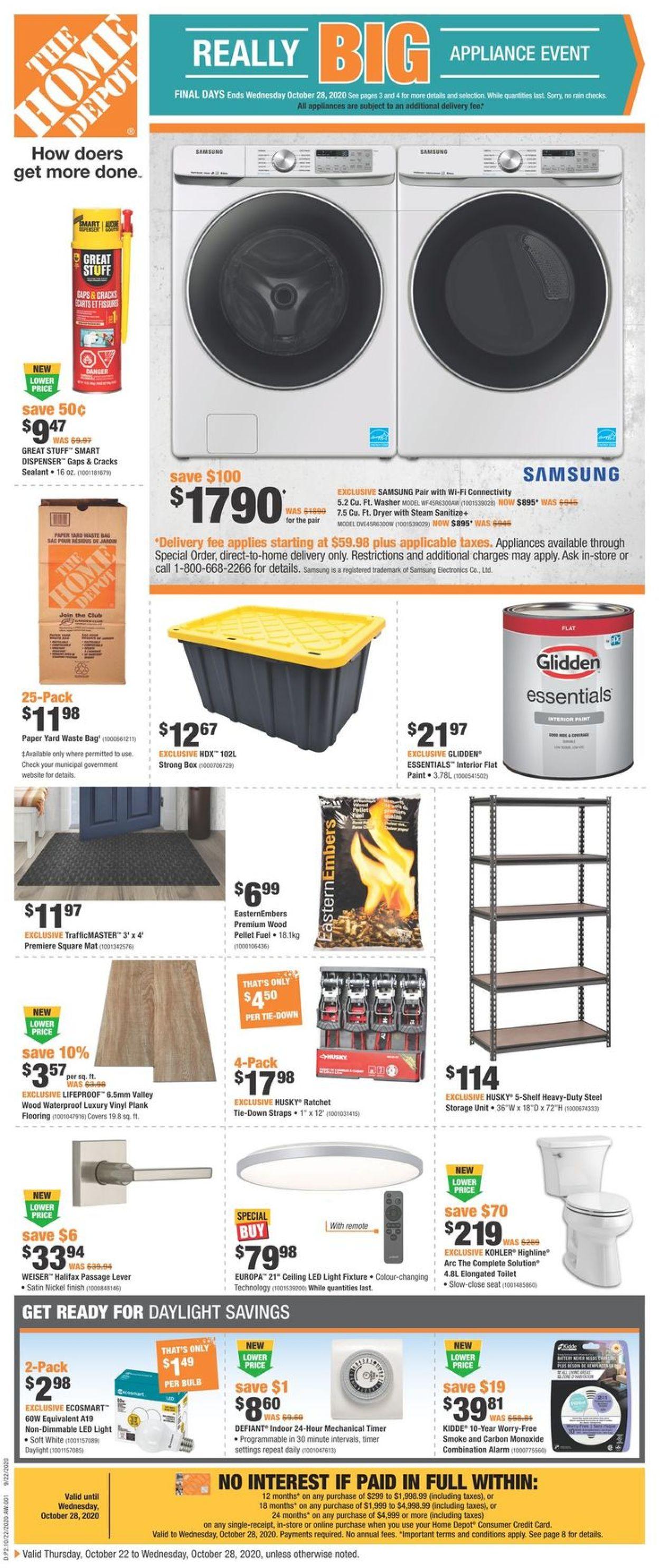 Home Depot Flyer - 10/22-10/28/2020