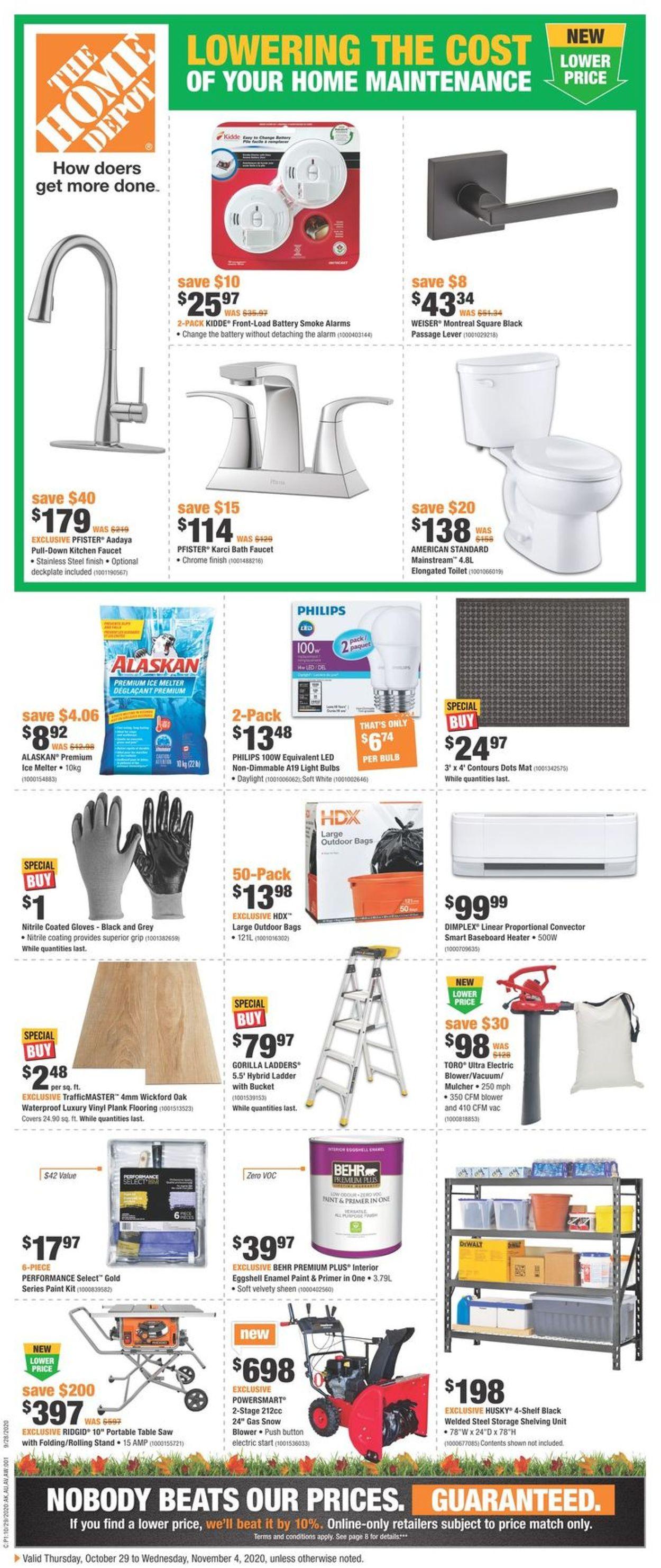 Home Depot Flyer - 10/29-11/04/2020