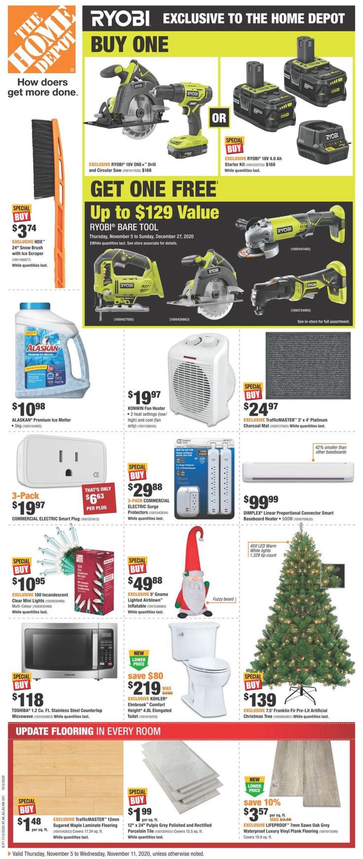 Home Depot - Christmas 2020 Flyer - 11/05-11/11/2020