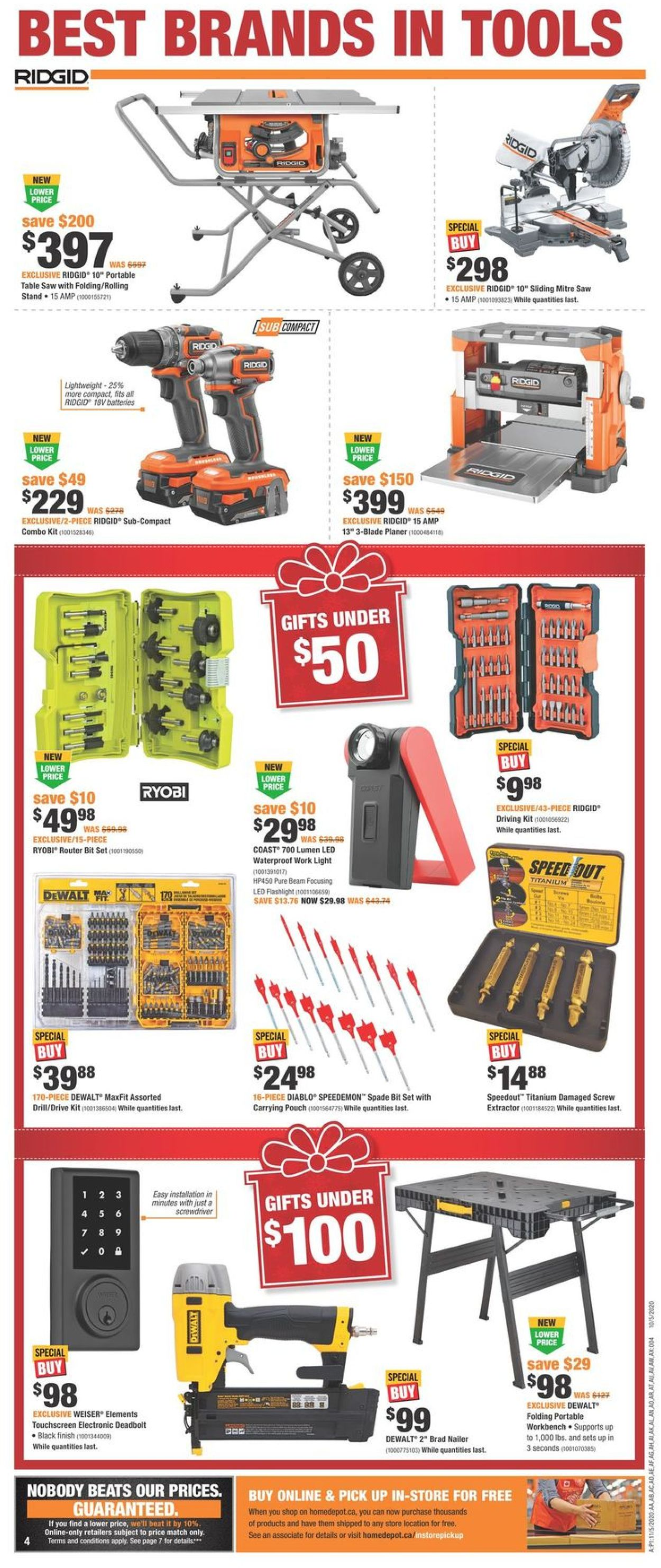 Home Depot - Christmas 2020 Flyer - 11/05-11/11/2020 (Page 4)