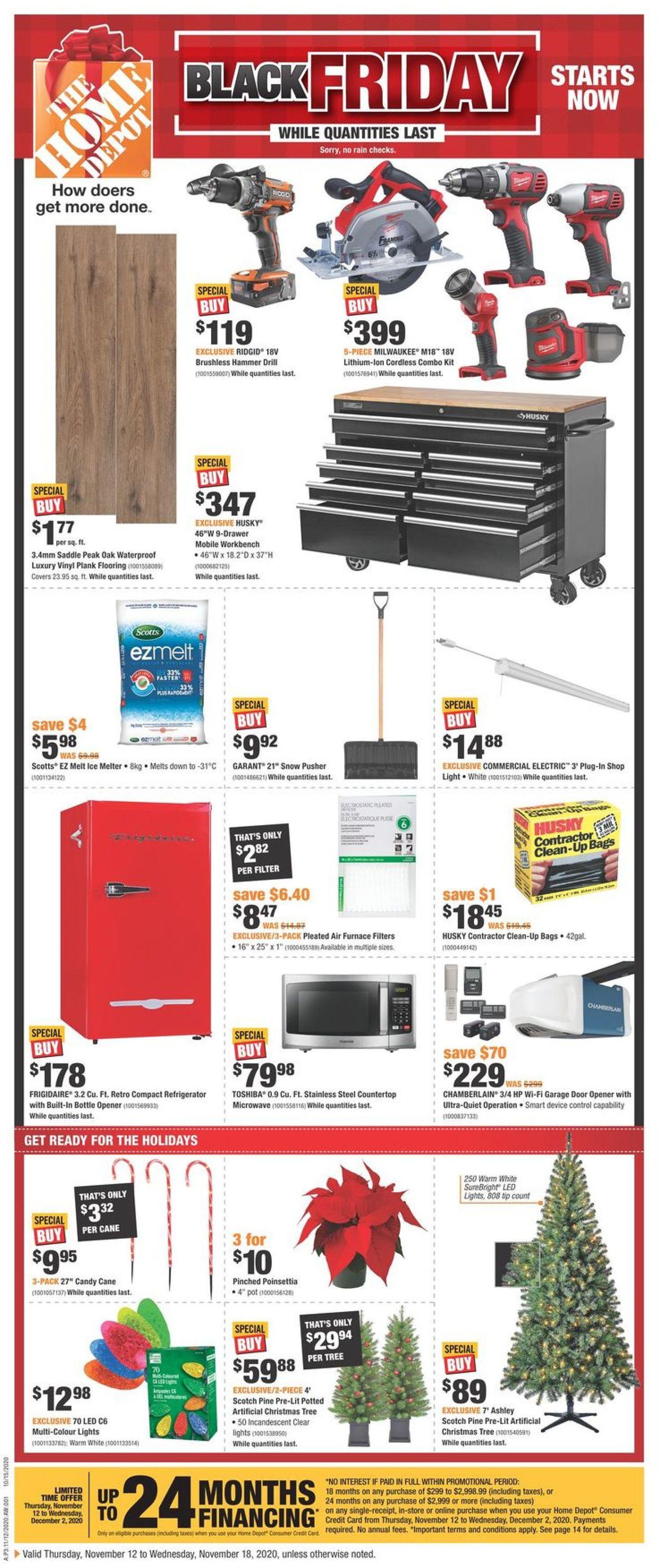 Home Depot - Black Friday 2020 Flyer - 11/12-11/18/2020
